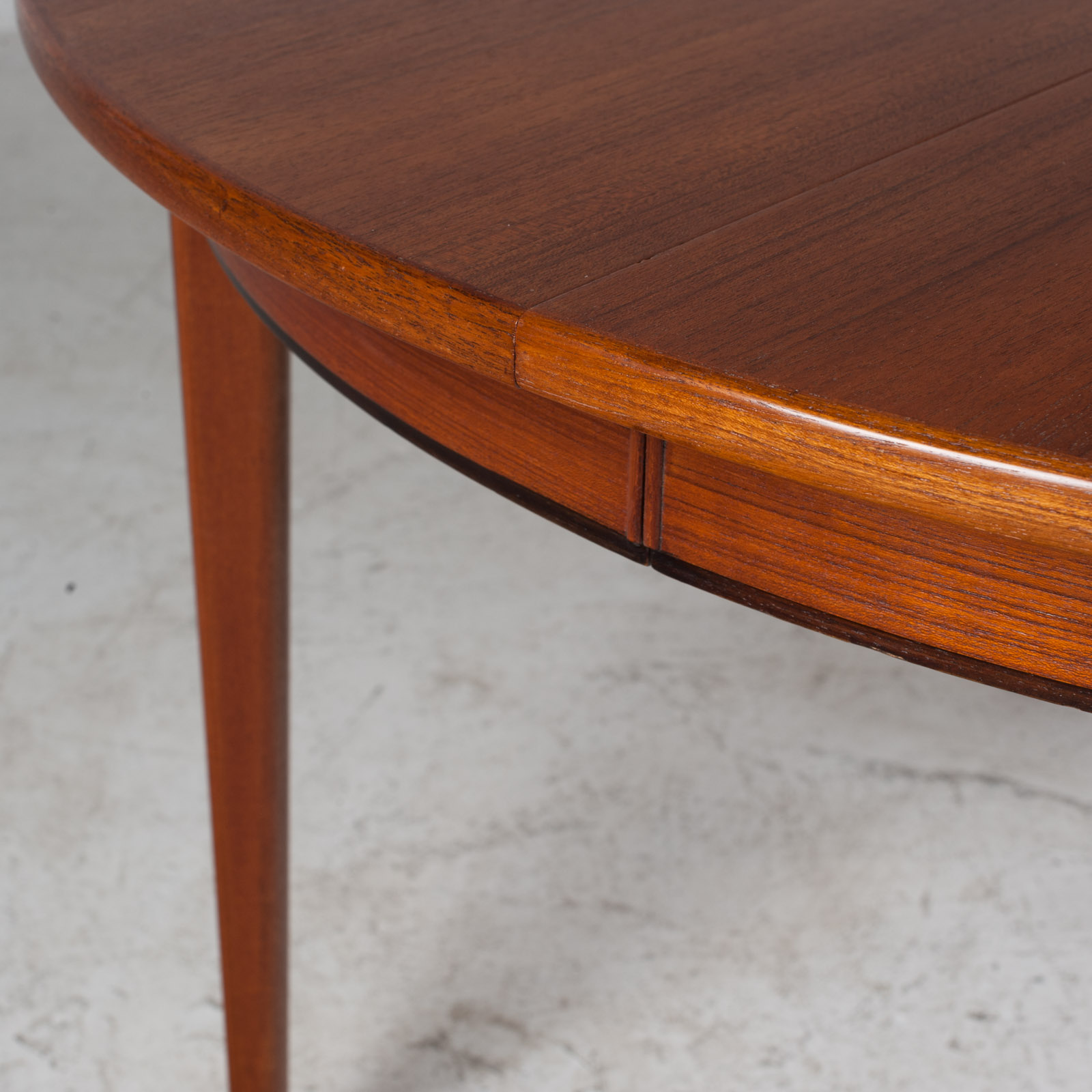 Round Dining Table By Omann Jun In Teak With Three Extensions 1960s Denmark 06