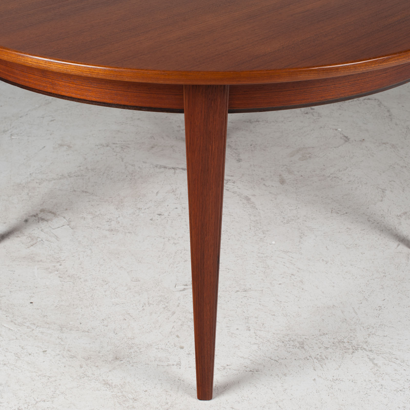 Round Dining Table By Omann Jun In Teak With Three Extensions 1960s Denmark 08