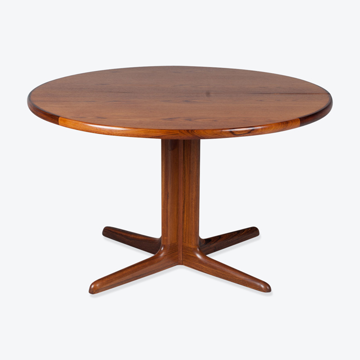 Round Dining Table In Teak With Two Extensions And Pedestal Base 1960s Denmark Thumb.jpg