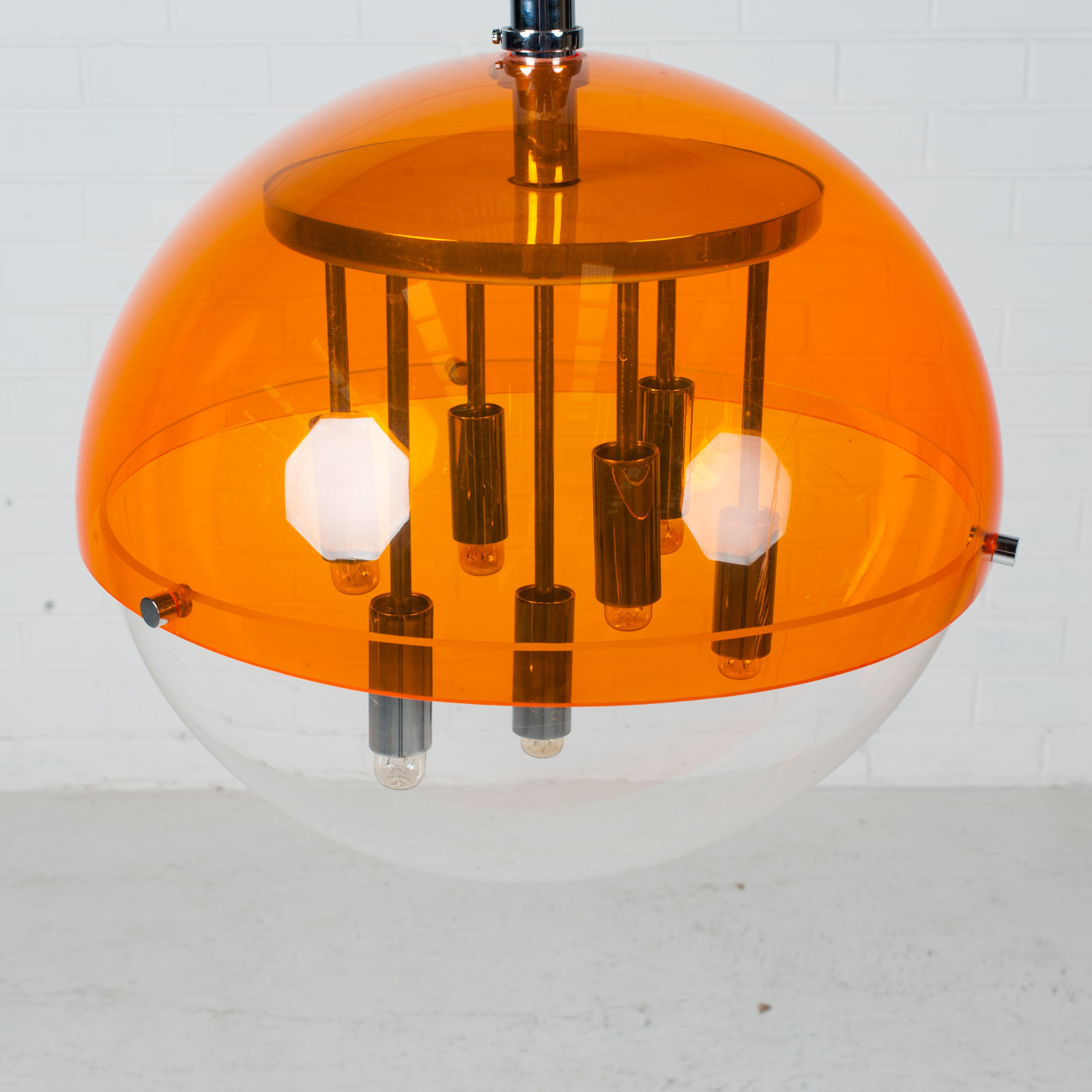 Space Age Globe Pendant 1960s Netherlands 05