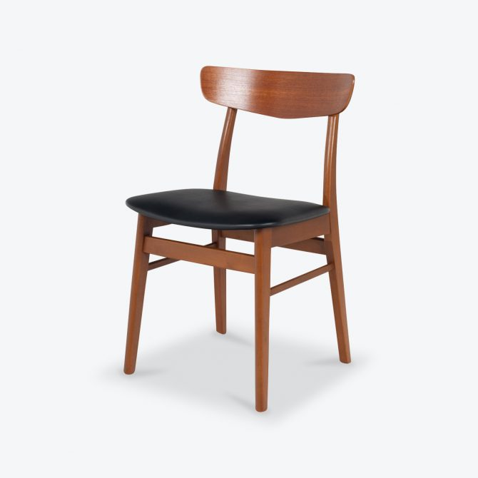V Back Dining Chairs By Farstrup In Teak And New Vinyl Upholstery 1960s Denmark Thumb.jpg