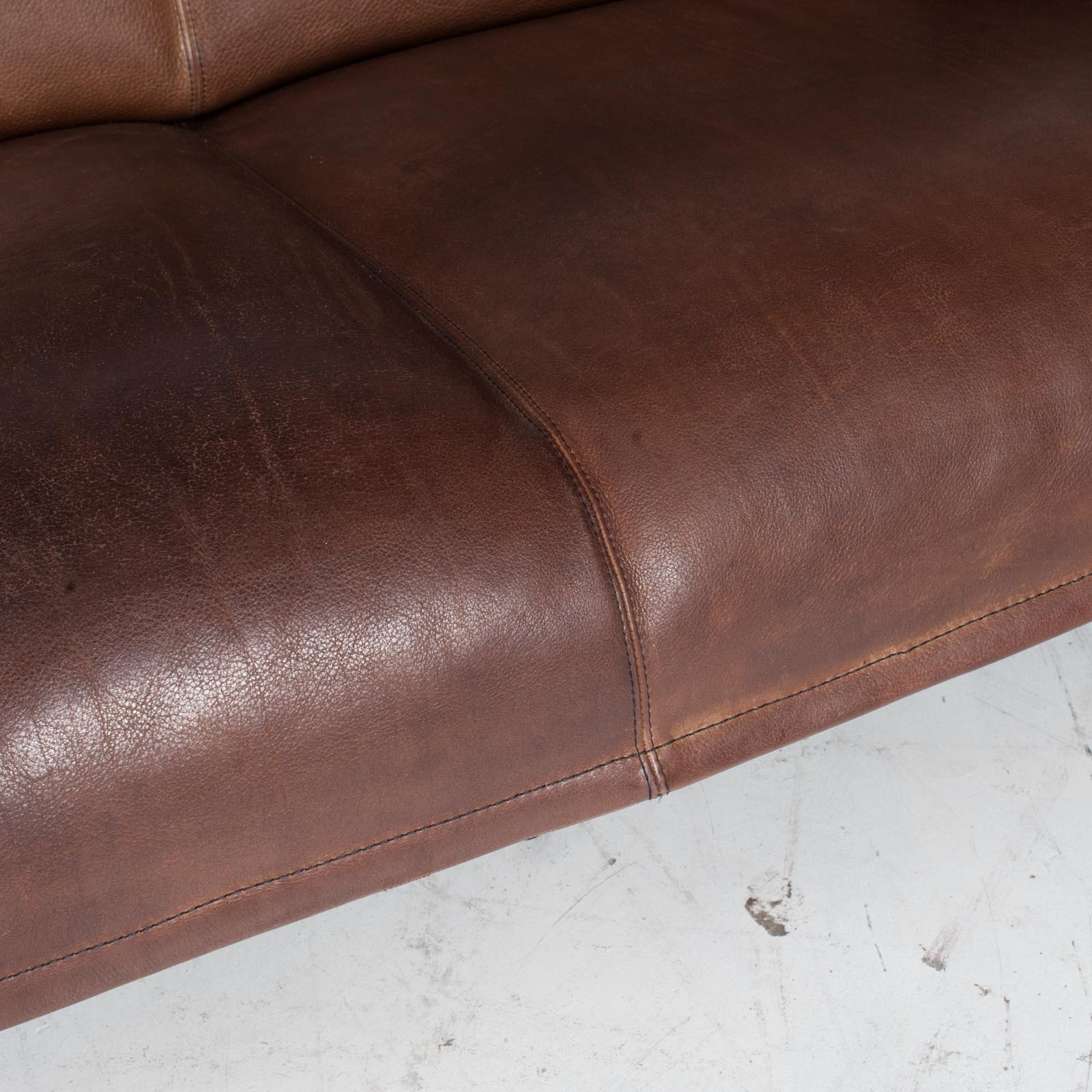 3 Seat Sofa By De Sede In Tan Neck Leather 1960s Denmark 010