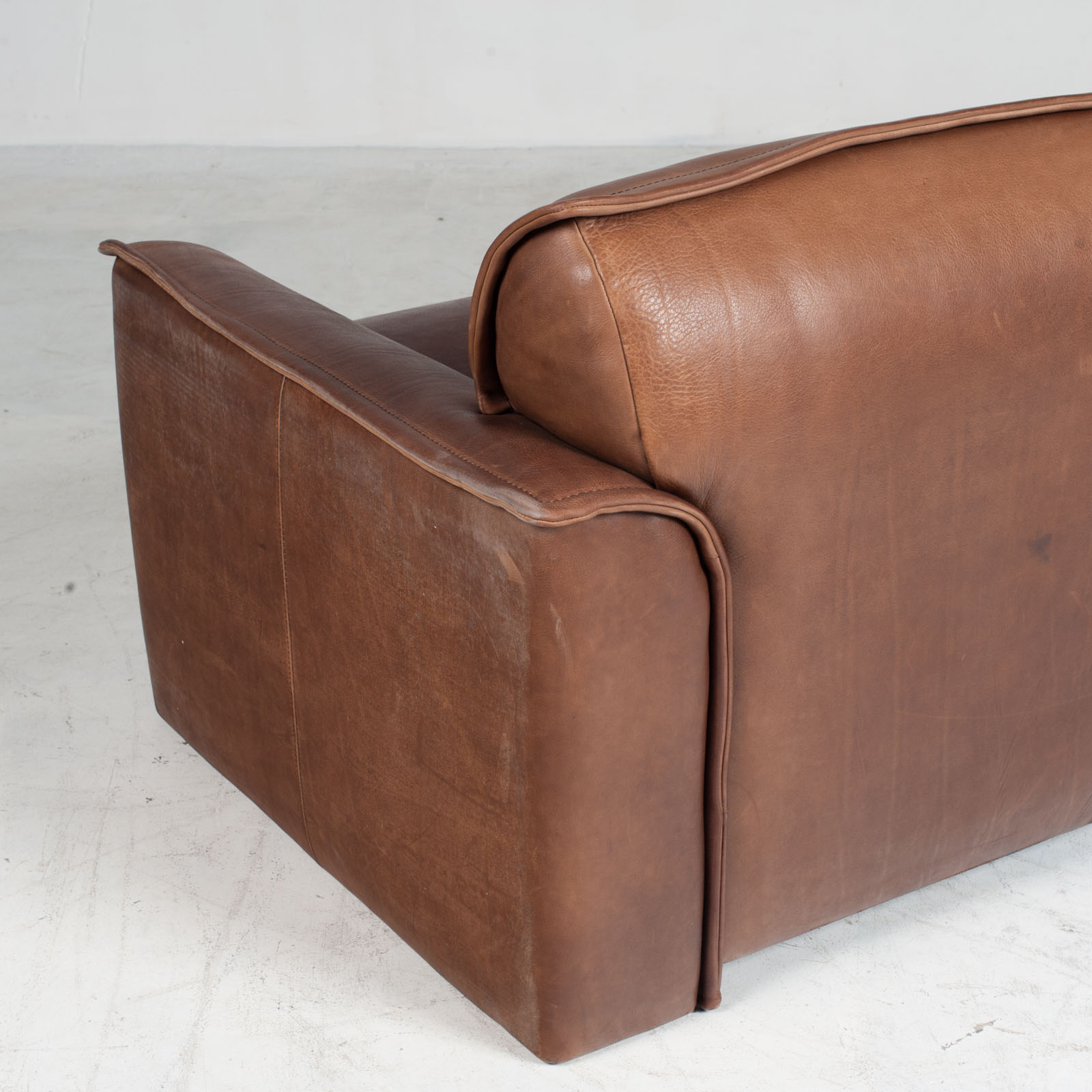 3 Seat Sofa By De Sede In Tan Neck Leather 1960s Denmark 014