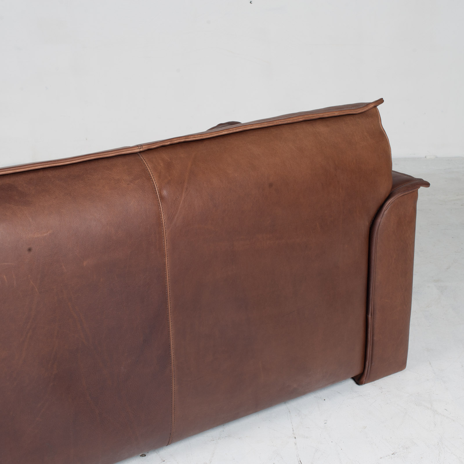 3 Seat Sofa By De Sede In Tan Neck Leather 1960s Denmark 015