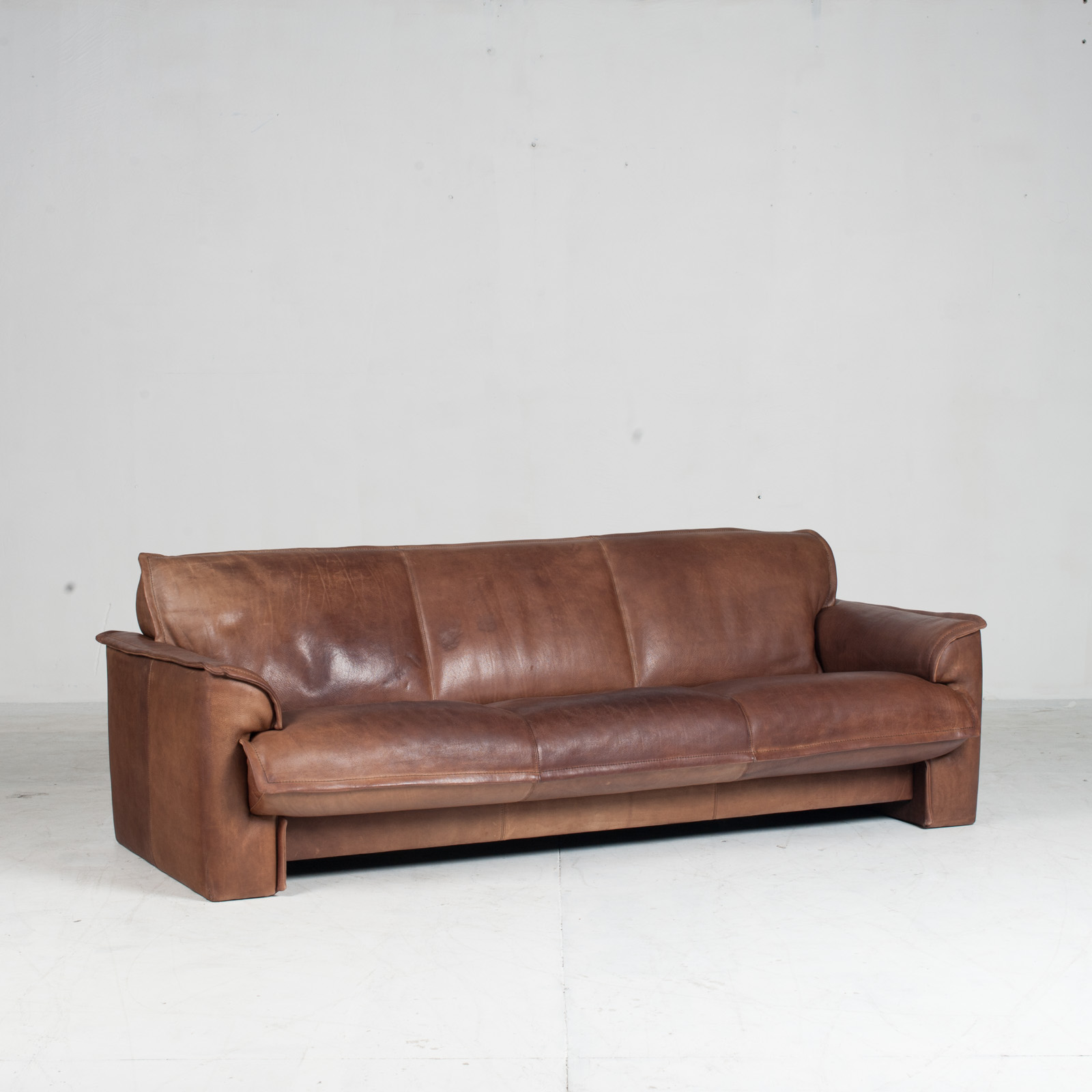 3 Seat Sofa By De Sede In Tan Neck Leather 1960s Denmark 02 2