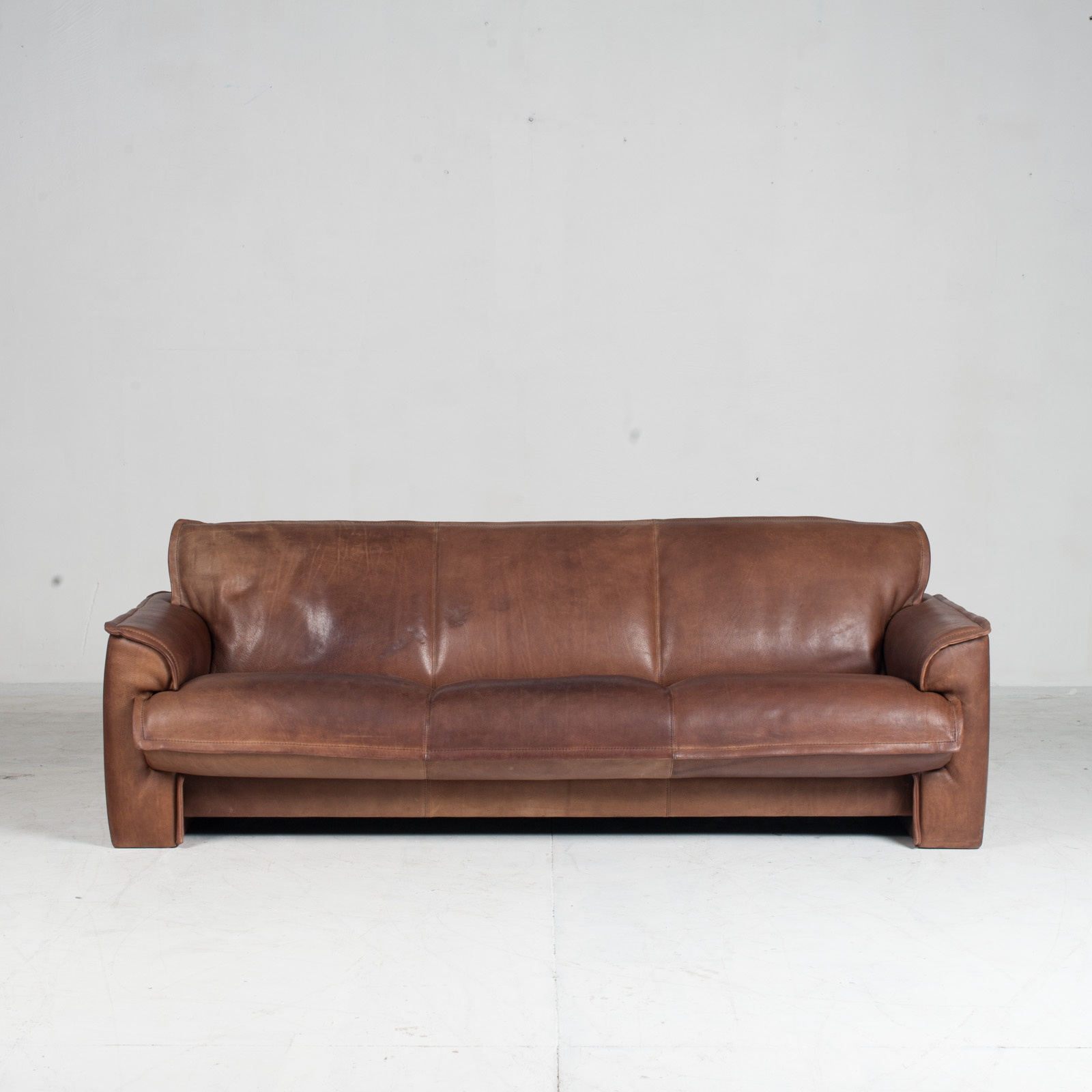 3 Seat Sofa By De Sede In Tan Neck Leather 1960s Denmark 02