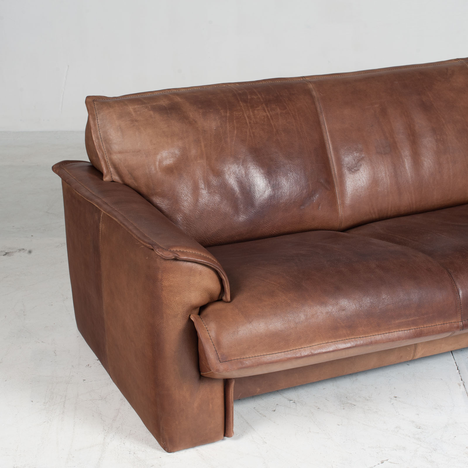 3 Seat Sofa By De Sede In Tan Neck Leather 1960s Denmark 03