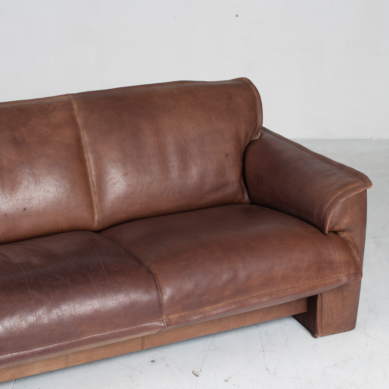 3 Seat Sofa By De Sede In Tan Neck Leather 1960s Denmark 04
