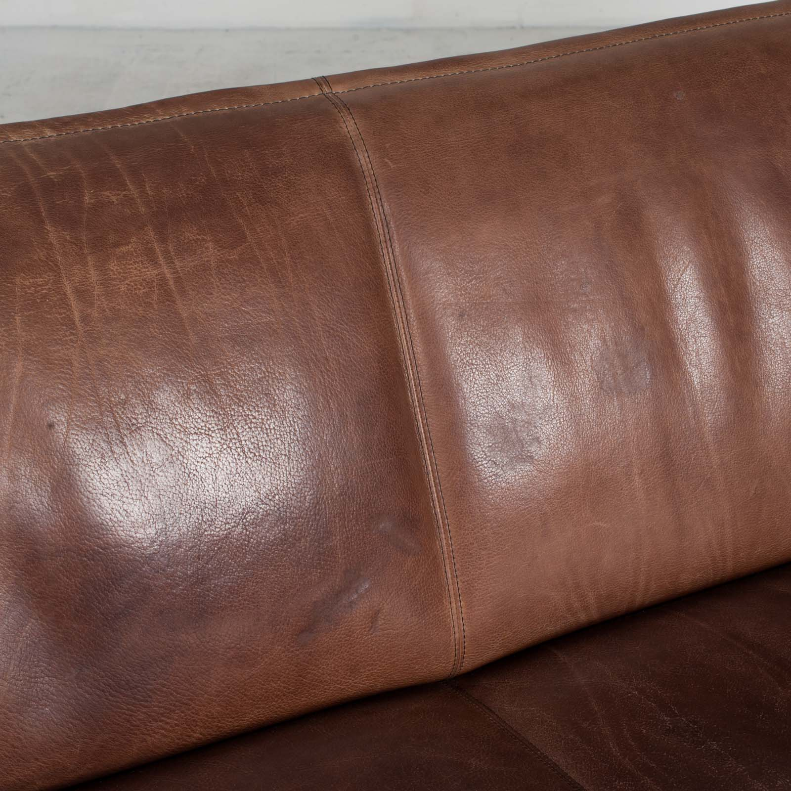 3 Seat Sofa By De Sede In Tan Neck Leather 1960s Denmark 07