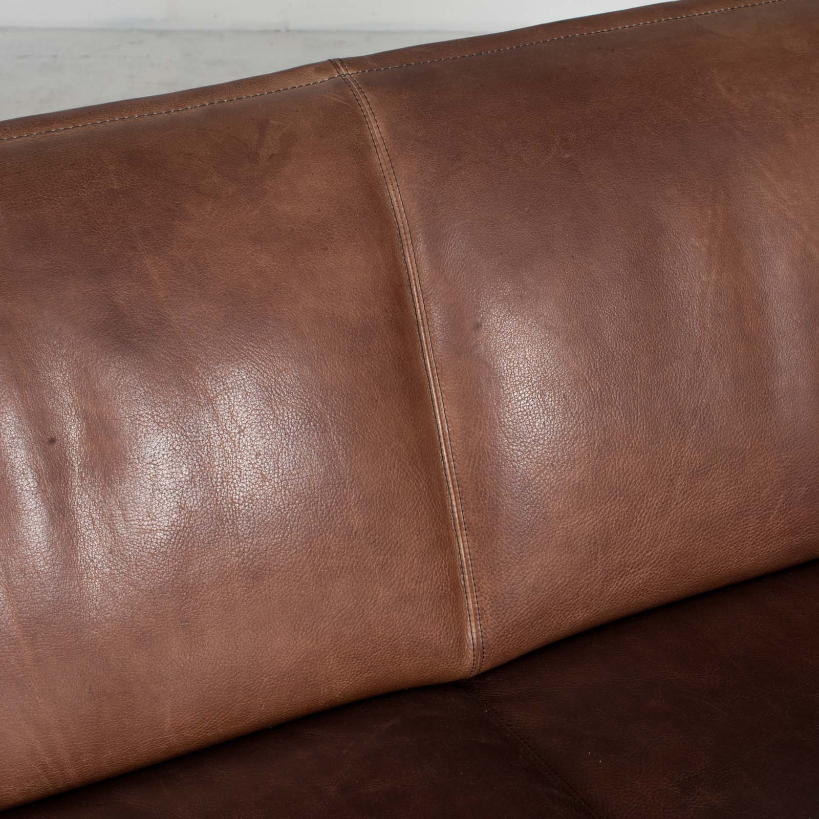 3 Seat Sofa By De Sede In Tan Neck Leather 1960s Denmark 09