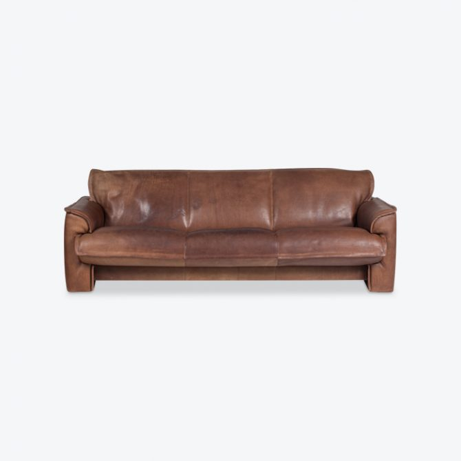 3 Seat Sofa By De Sede In Tan Neck Leather 1960s Denmark Thumb.jpg
