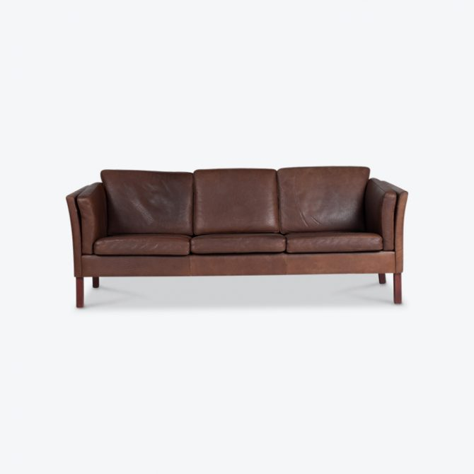 3 Seat Sofa In Chocolate Buffalo Leather 1960s Denmark Thumb.jpg