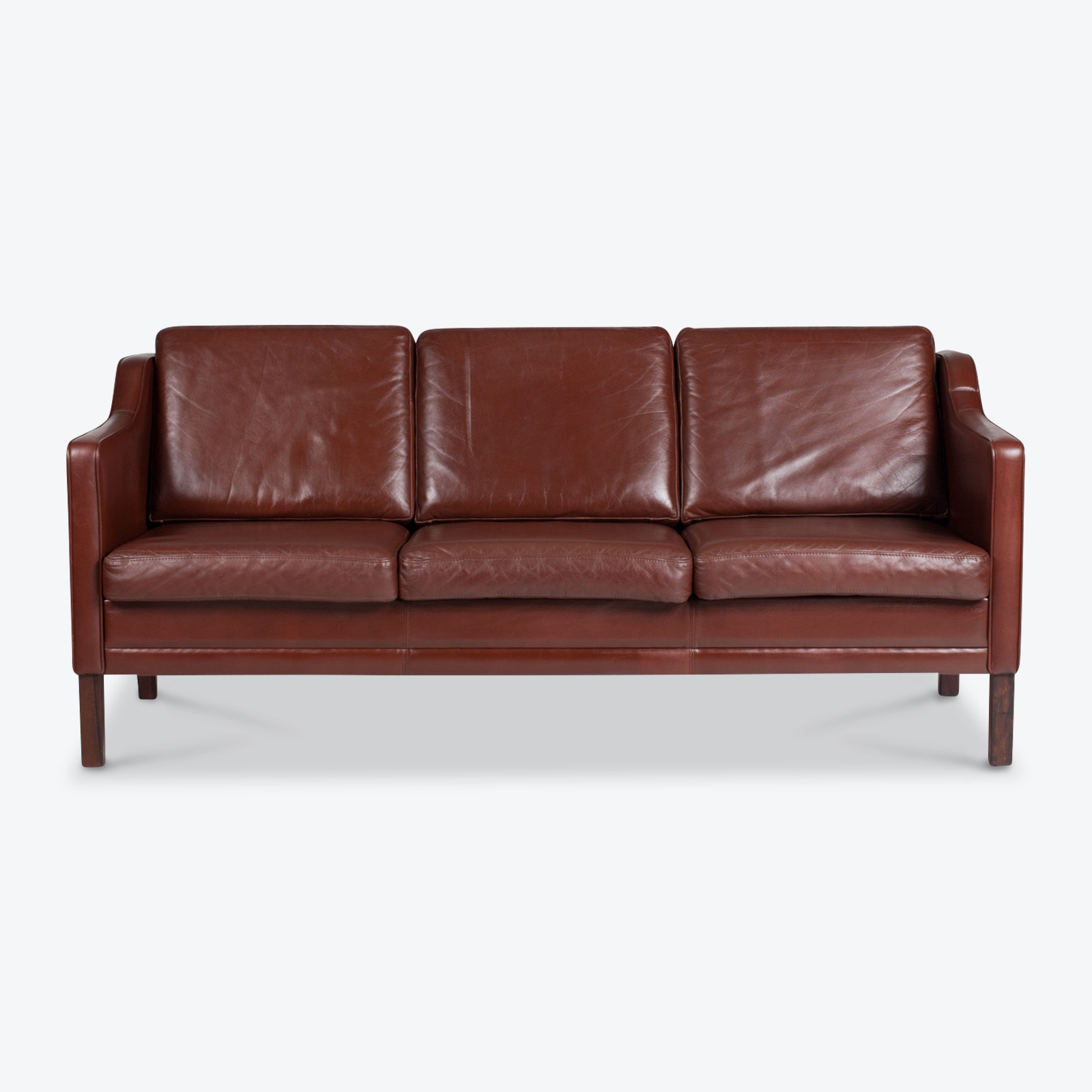 3 Seater Sofa In Tan Leather 1960s Denmark 01
