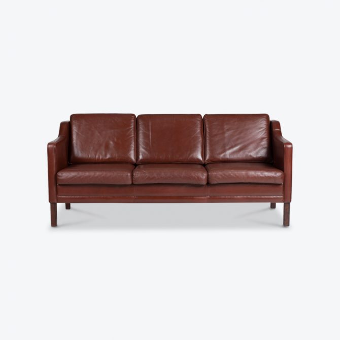 3 Seater Sofa In Tan Leather 1960s Denmark Thumb.jpg