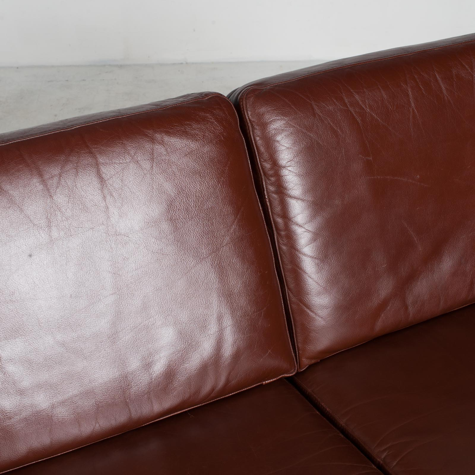 3 Seater Sofa In Tan Leather 1960s Denmark10