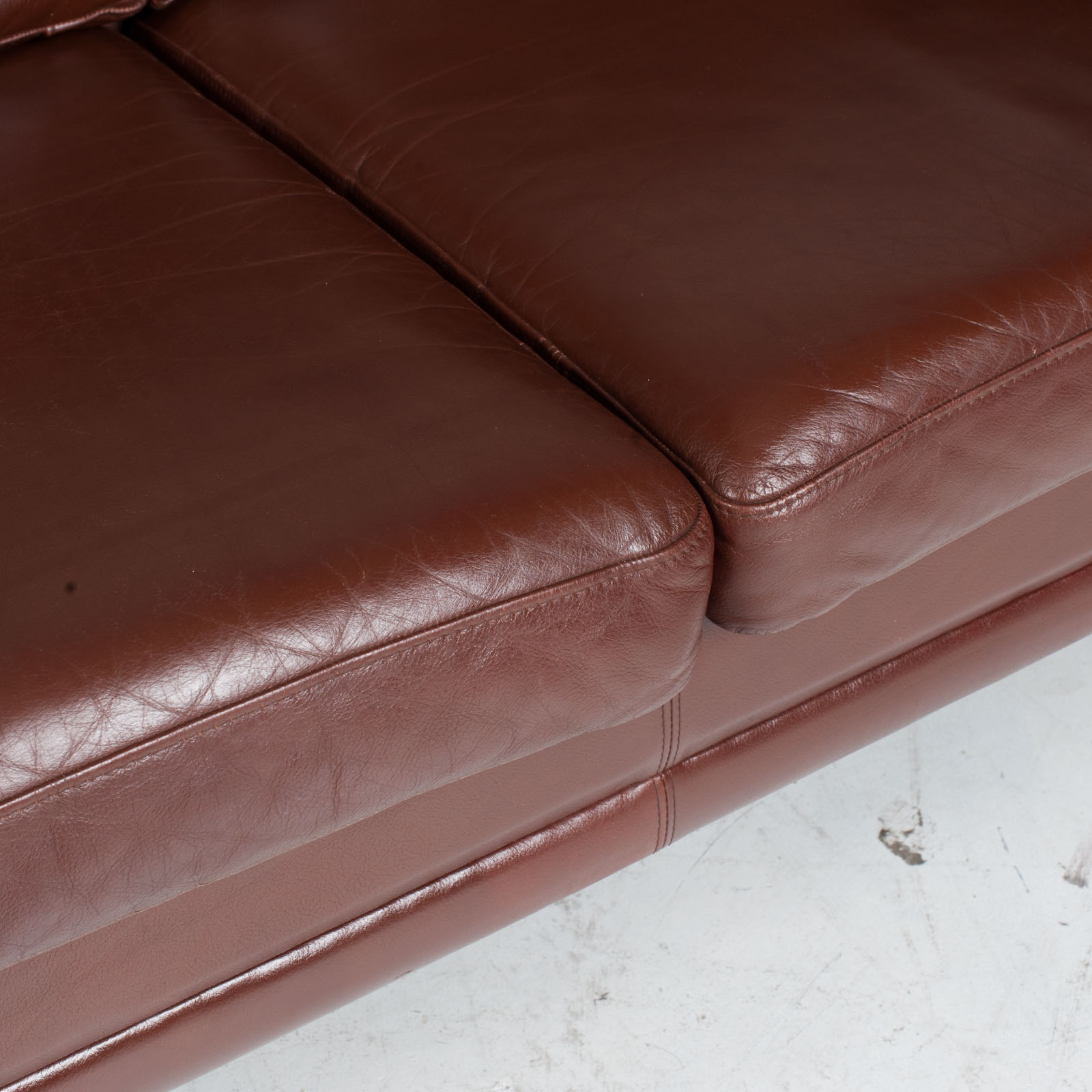 3 Seater Sofa In Tan Leather 1960s Denmark11