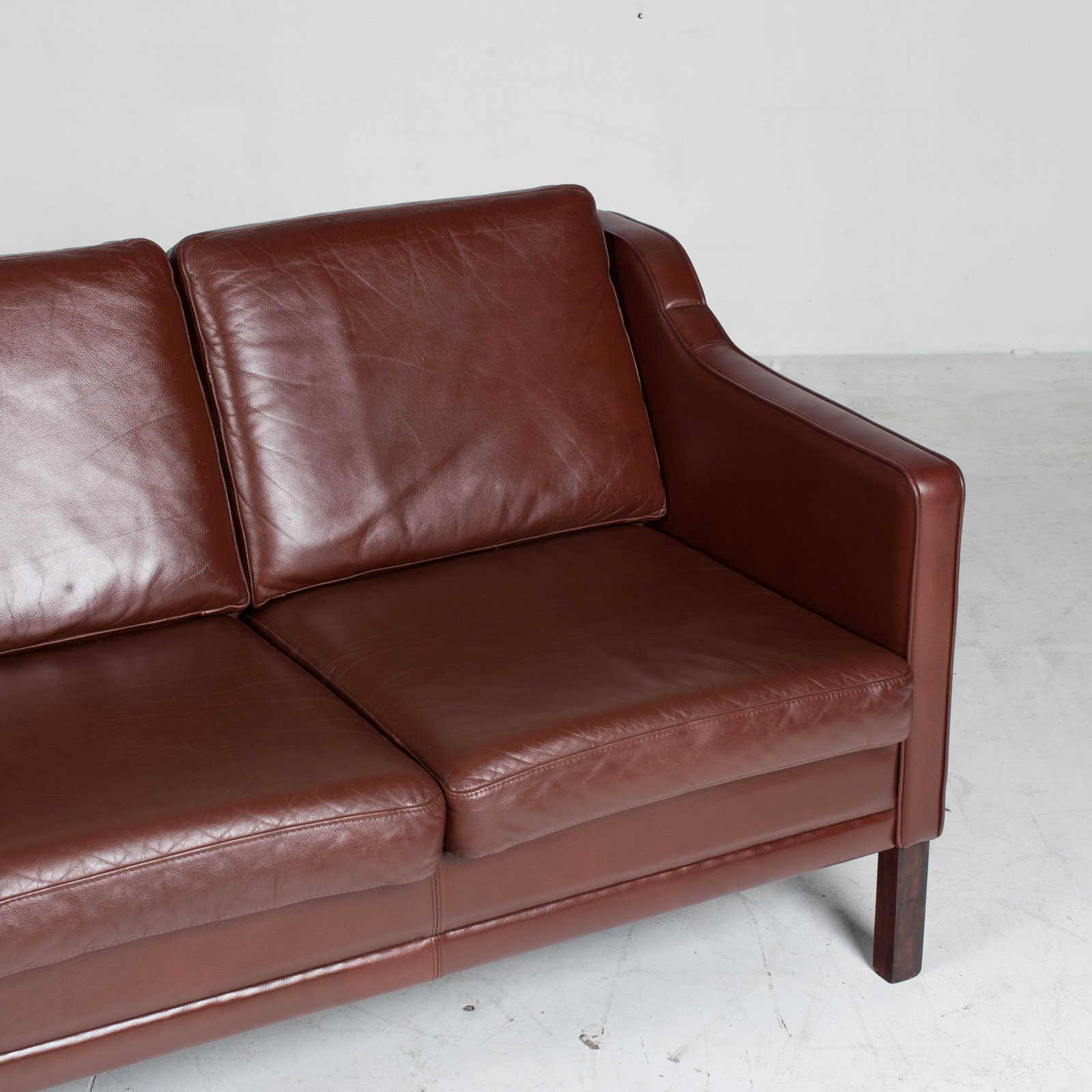 3 Seater Sofa In Tan Leather 1960s Denmark4