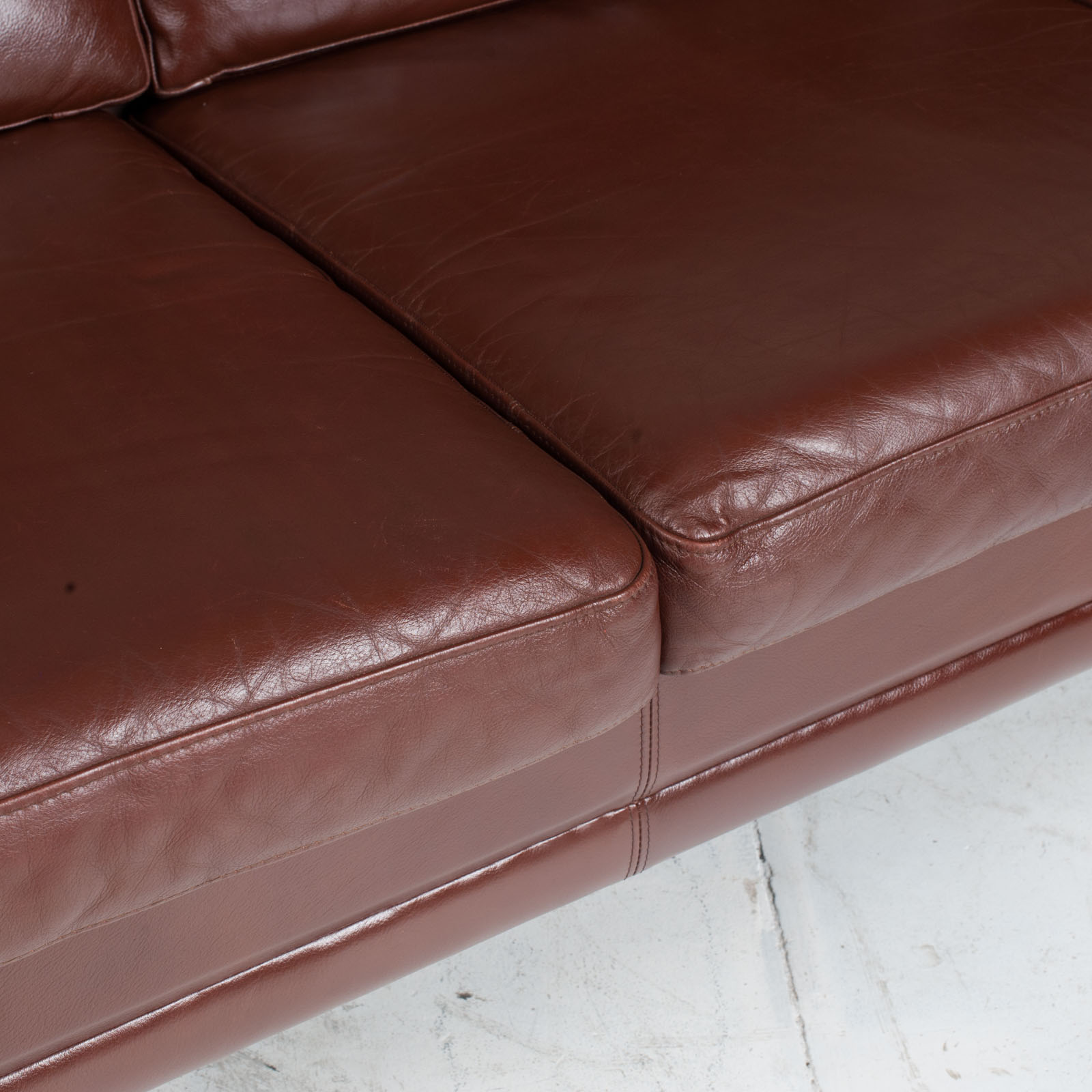 3 Seater Sofa In Tan Leather 1960s Denmark9