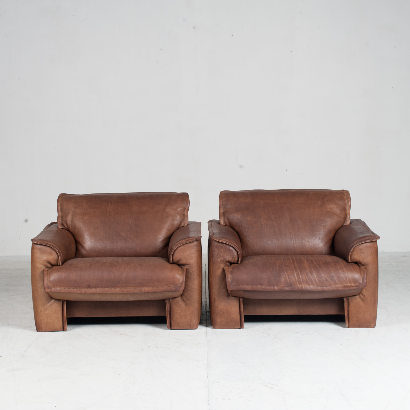 Armchairs By De Sede In Tan Neck Leather 1960s Denmark 012