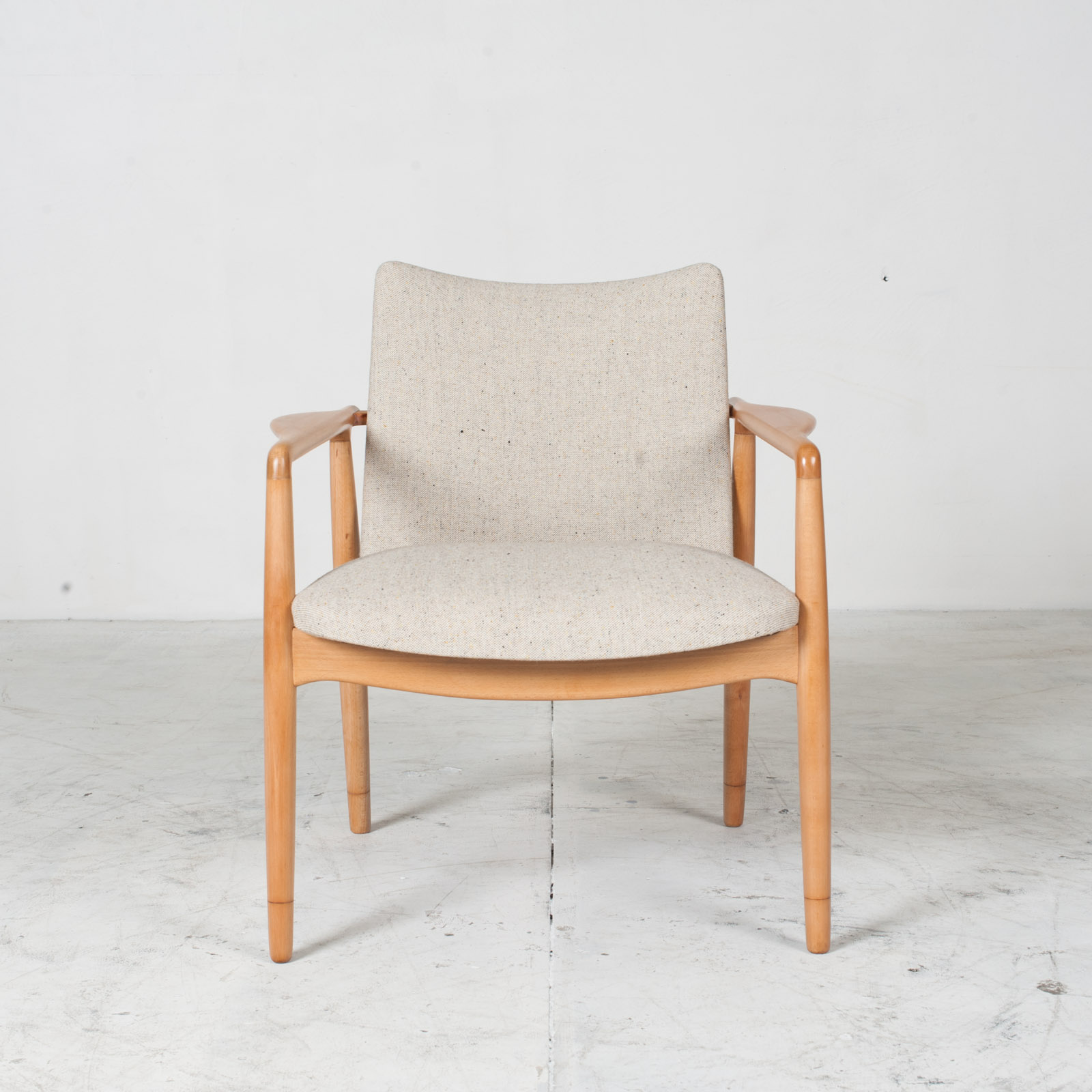 Armchairs In Beech Frame And Light Oatmeal Upholstery 1960s Denmark 01 2