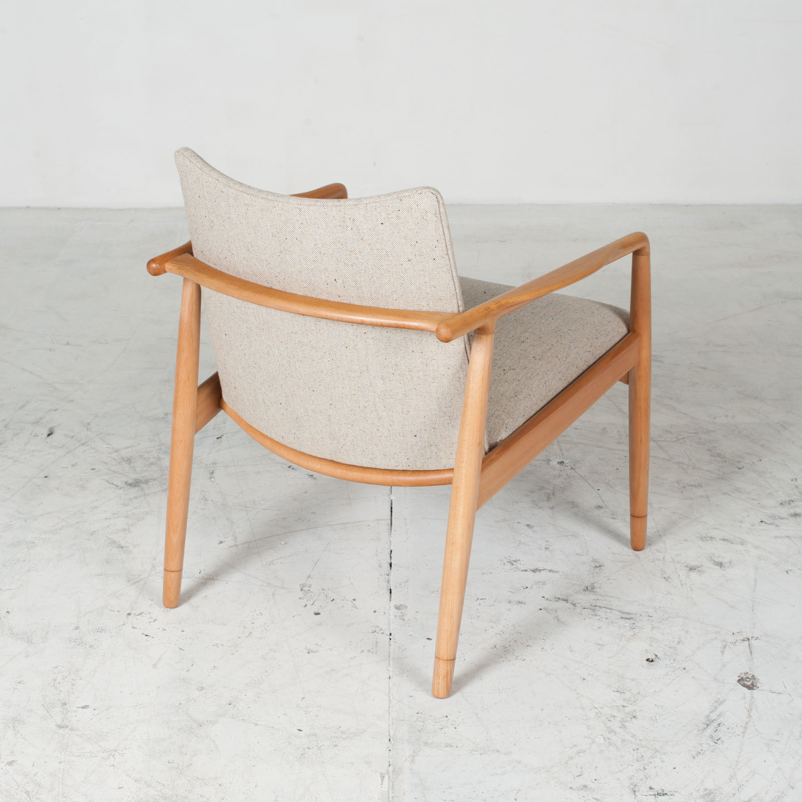 Armchairs In Beech Frame And Light Oatmeal Upholstery 1960s Denmark 08