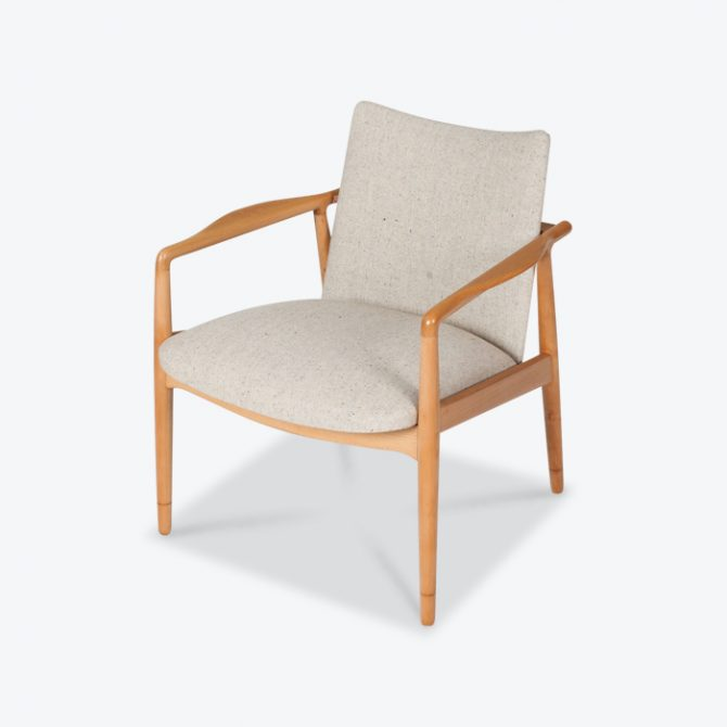 Armchairs In Beech Frame And Light Oatmeal Upholstery 1960s Denmark Thumb.jpg