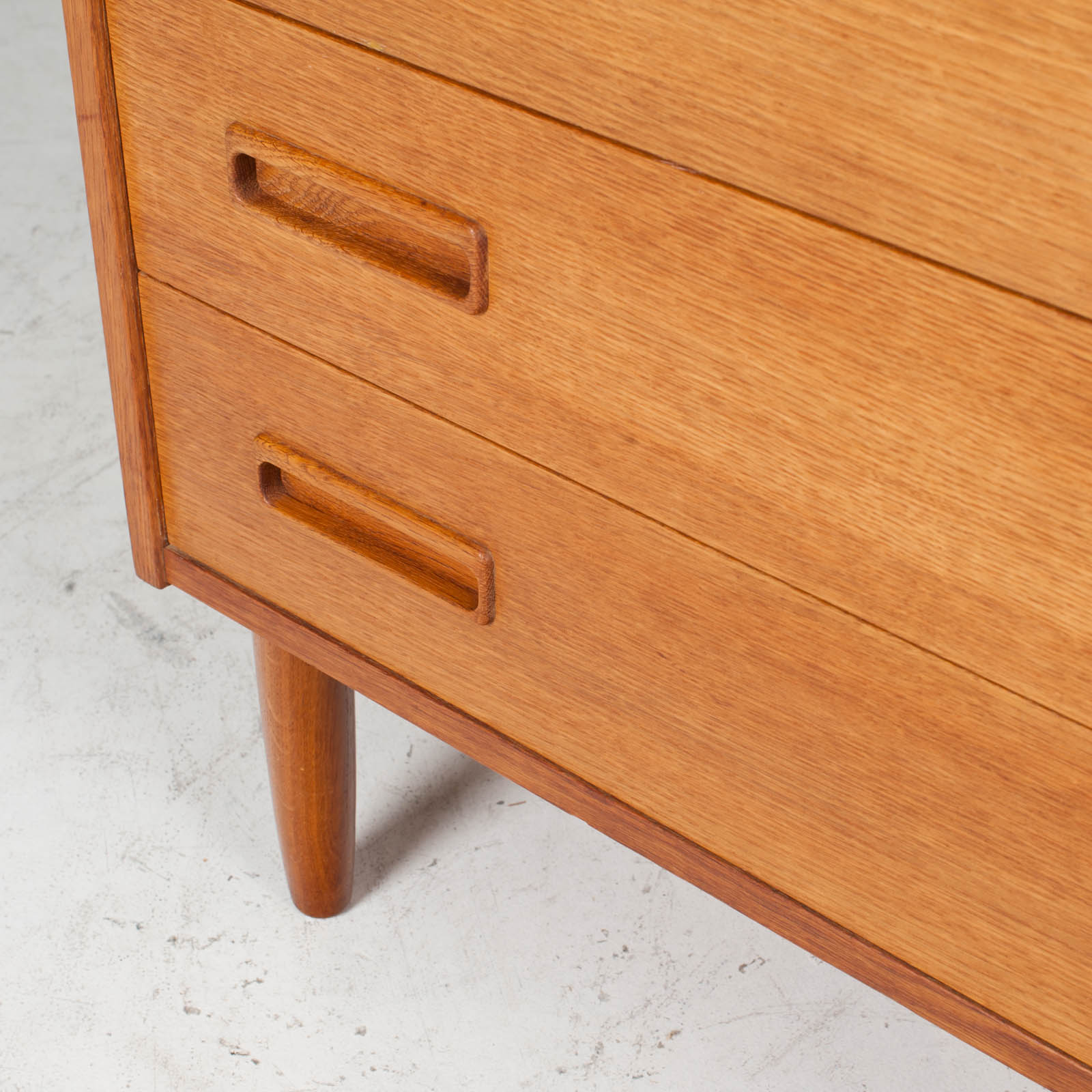 Compact Chest With Four Drawers In Oak 1960s Denmark 10