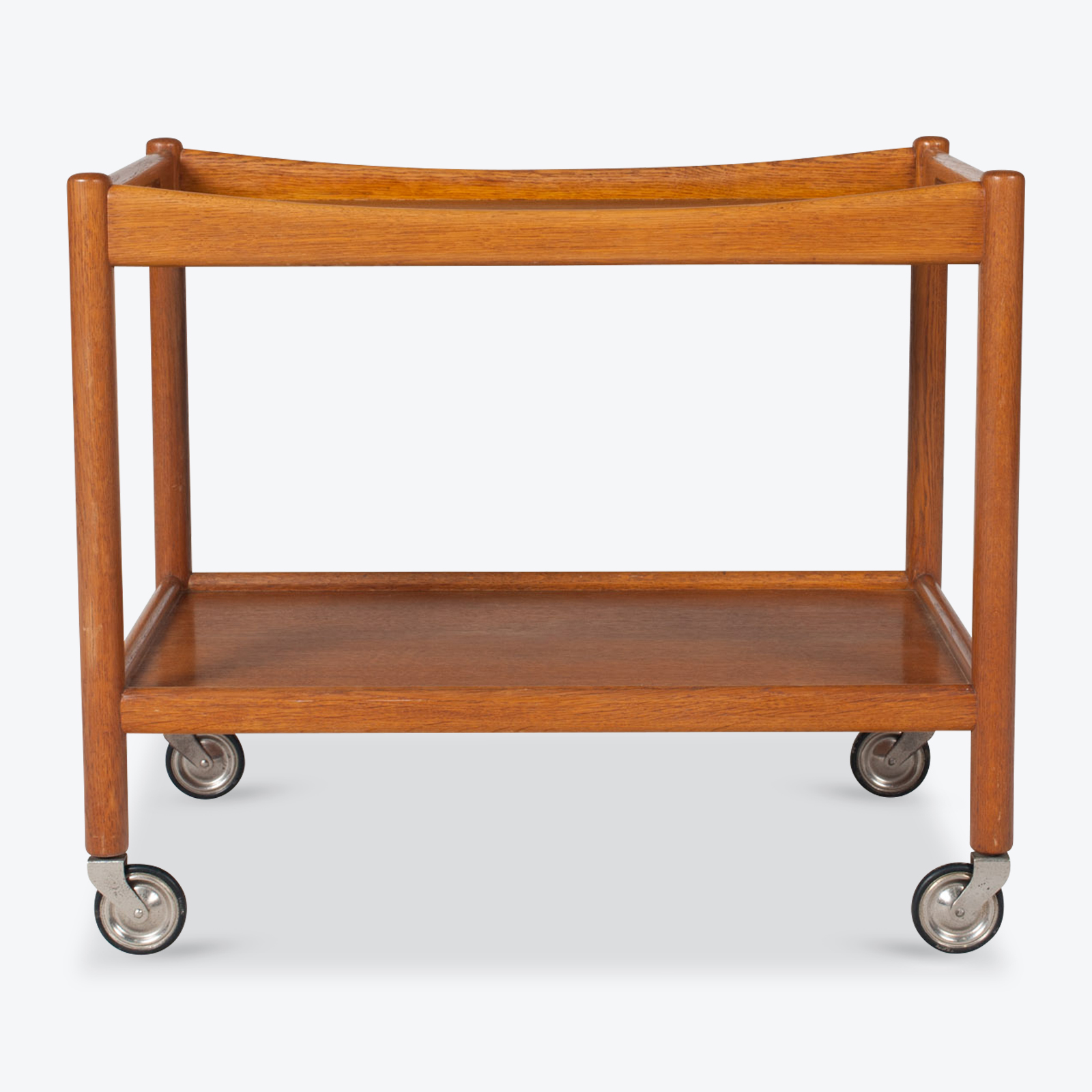 Drinks Cart By Hans J. Wegner In Oak 1960s Denmark 01