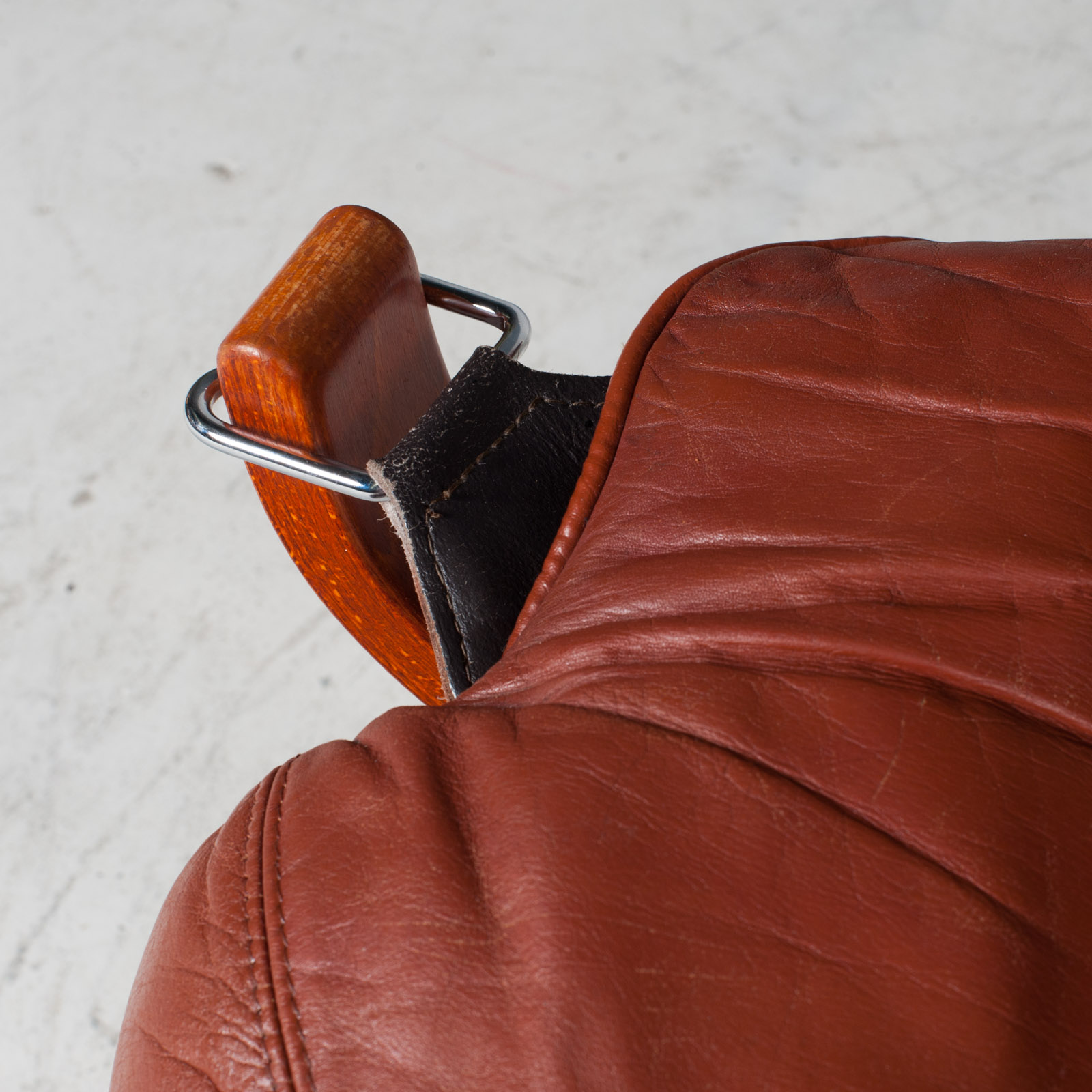 Low Back Falcon Armchair By Sigurd Ressell For Vatne Mobler In Patinated Cognac Leather 1970s Norway 09