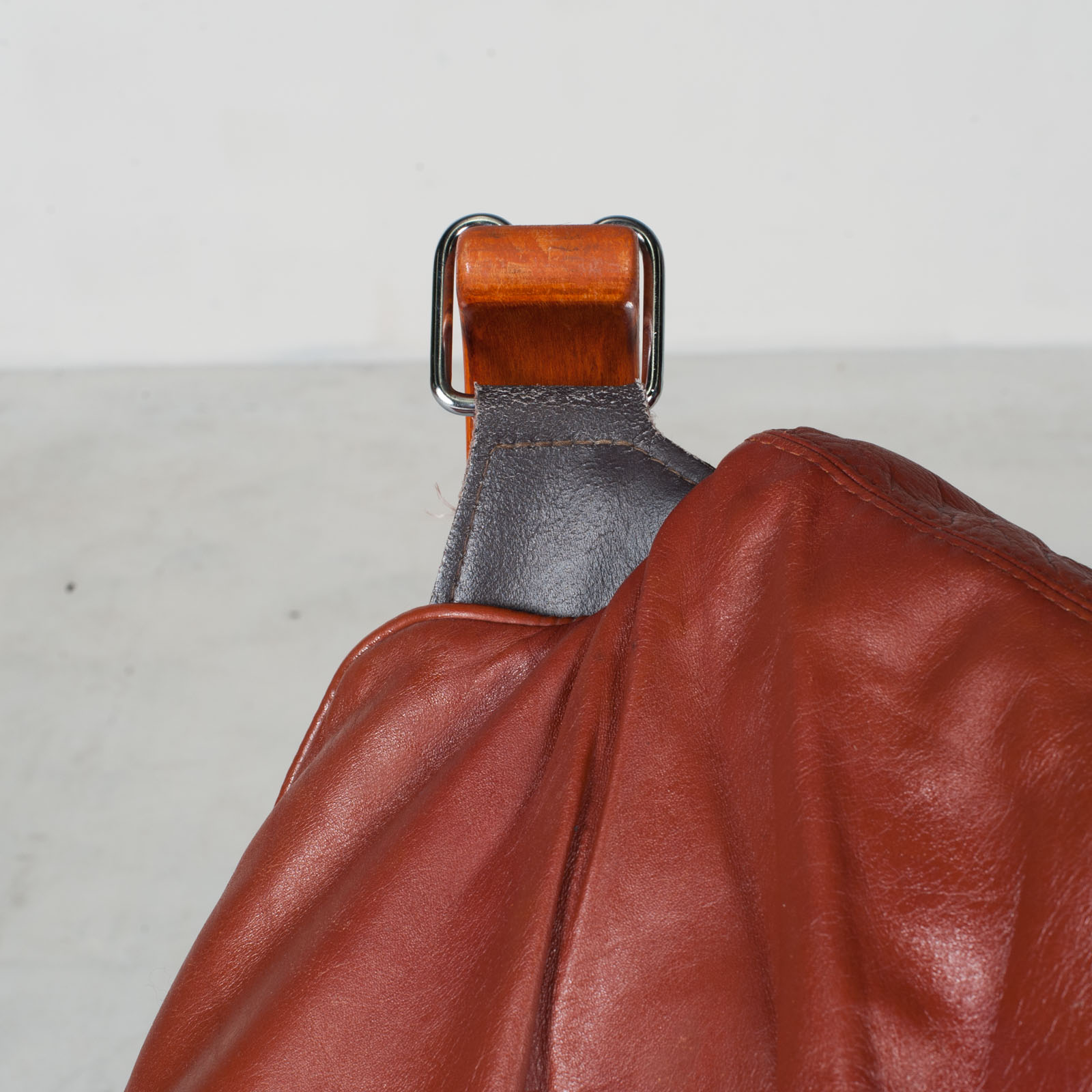 Low Back Falcon Armchair By Sigurd Ressell For Vatne Mobler In Patinated Cognac Leather 1970s Norway 10