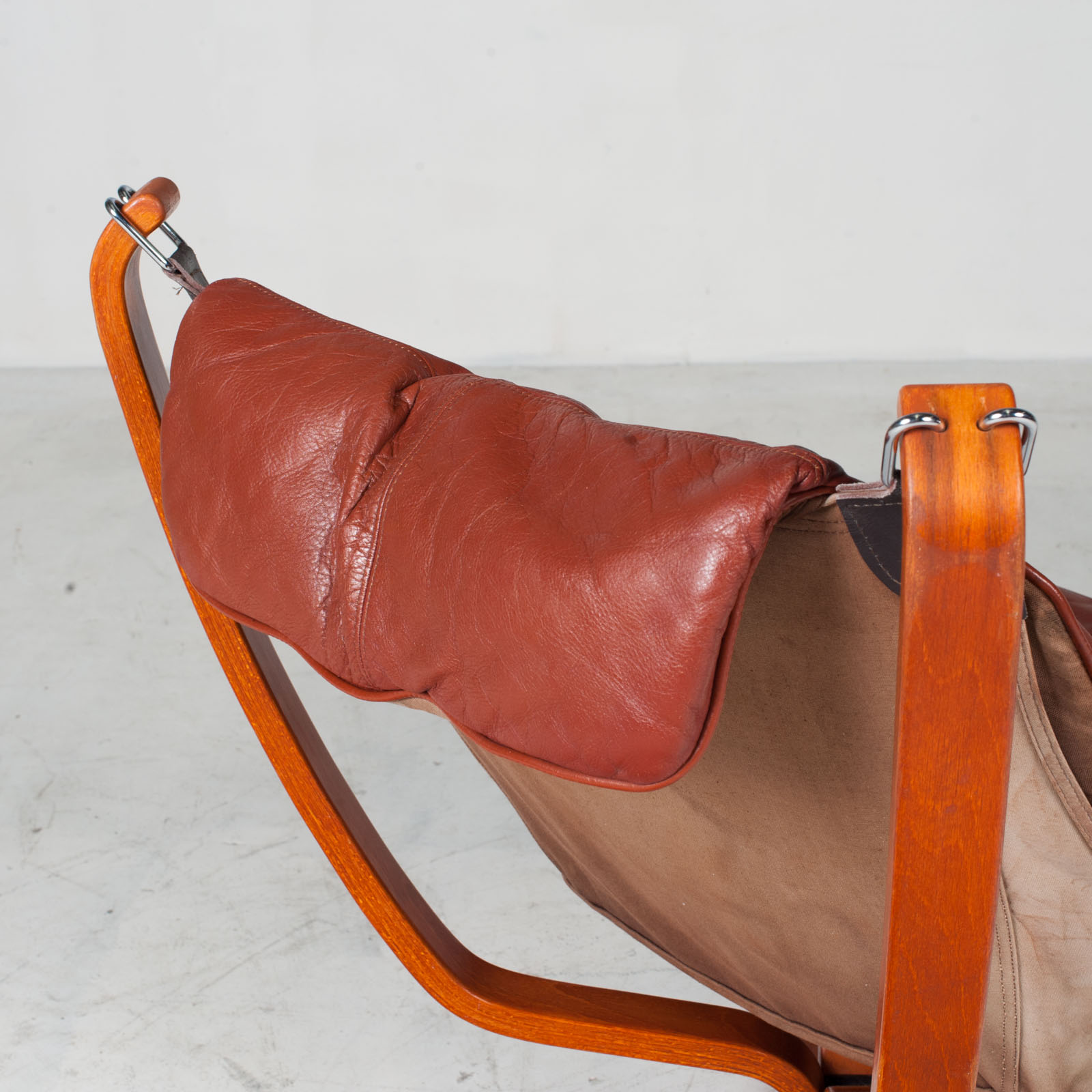 Low Back Falcon Armchair By Sigurd Ressell For Vatne Mobler In Patinated Cognac Leather 1970s Norway 17