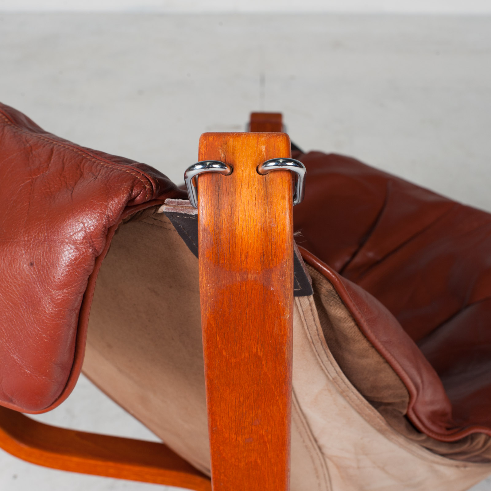 Low Back Falcon Armchair By Sigurd Ressell For Vatne Mobler In Patinated Cognac Leather 1970s Norway 19