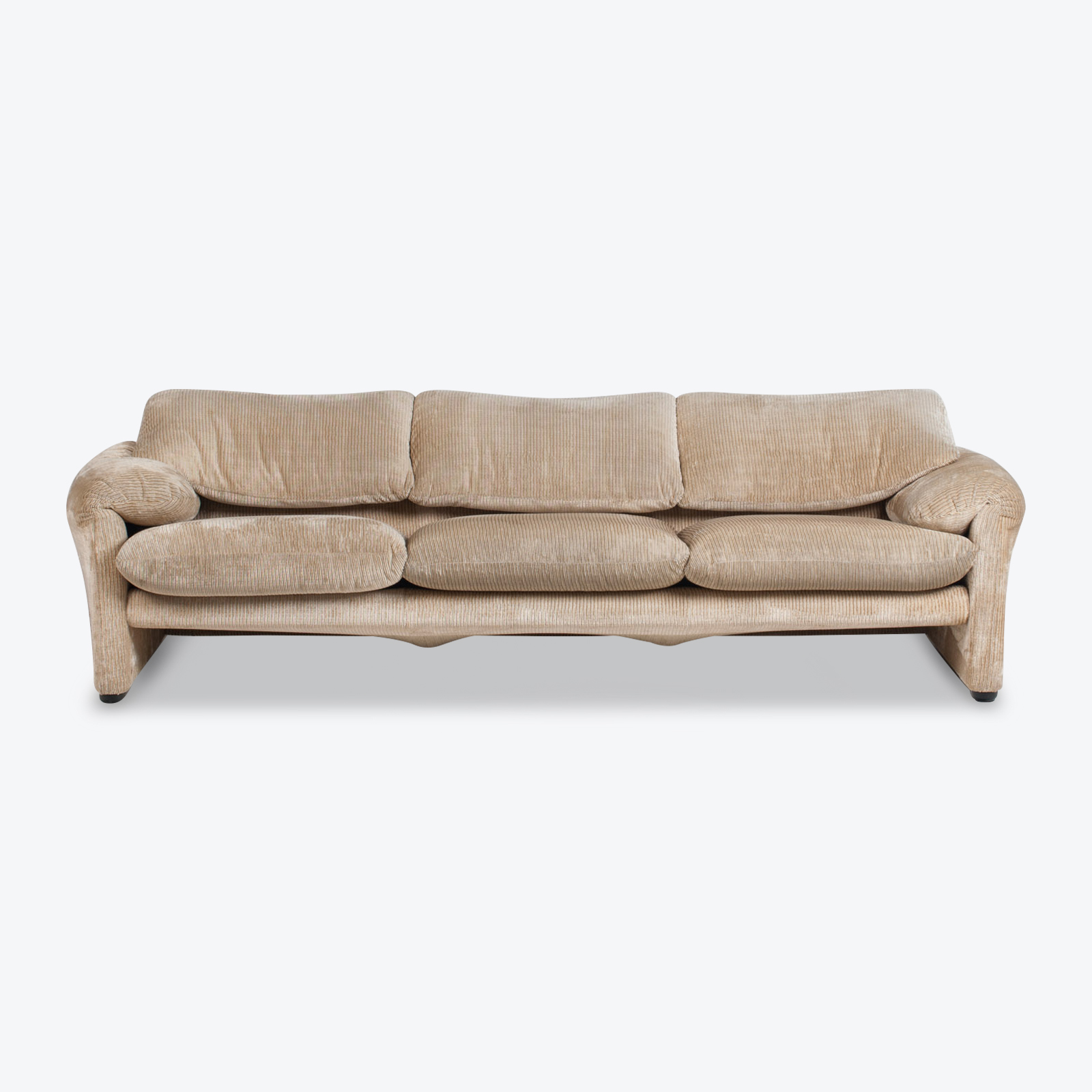Maralunga 3 Seat Sofa By Vico Magistretti For Cassina In Original Upholstery 1970s Italy 01