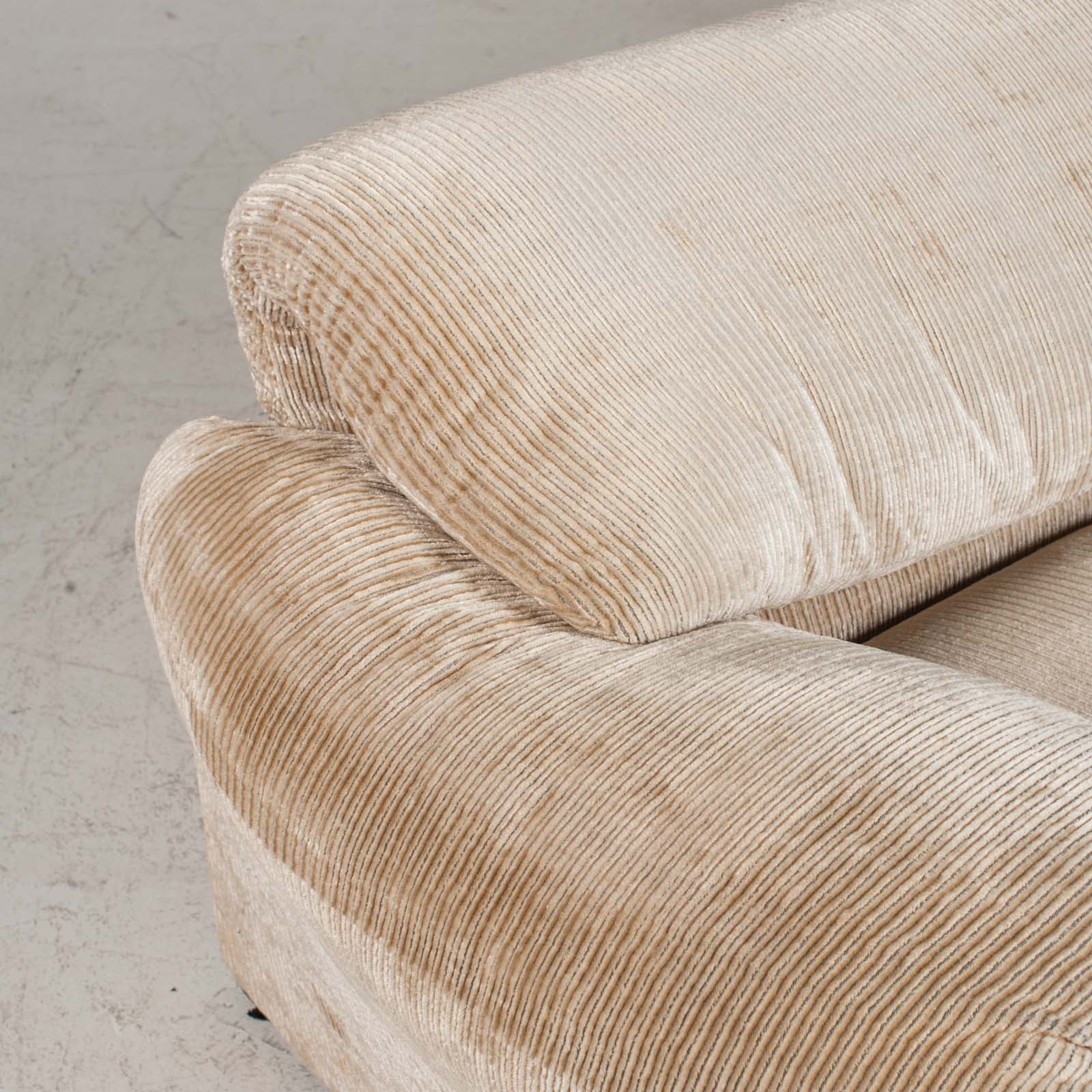 Maralunga 3 Seat Sofa By Vico Magistretti For Cassina In Original Upholstery 1970s Italy 012