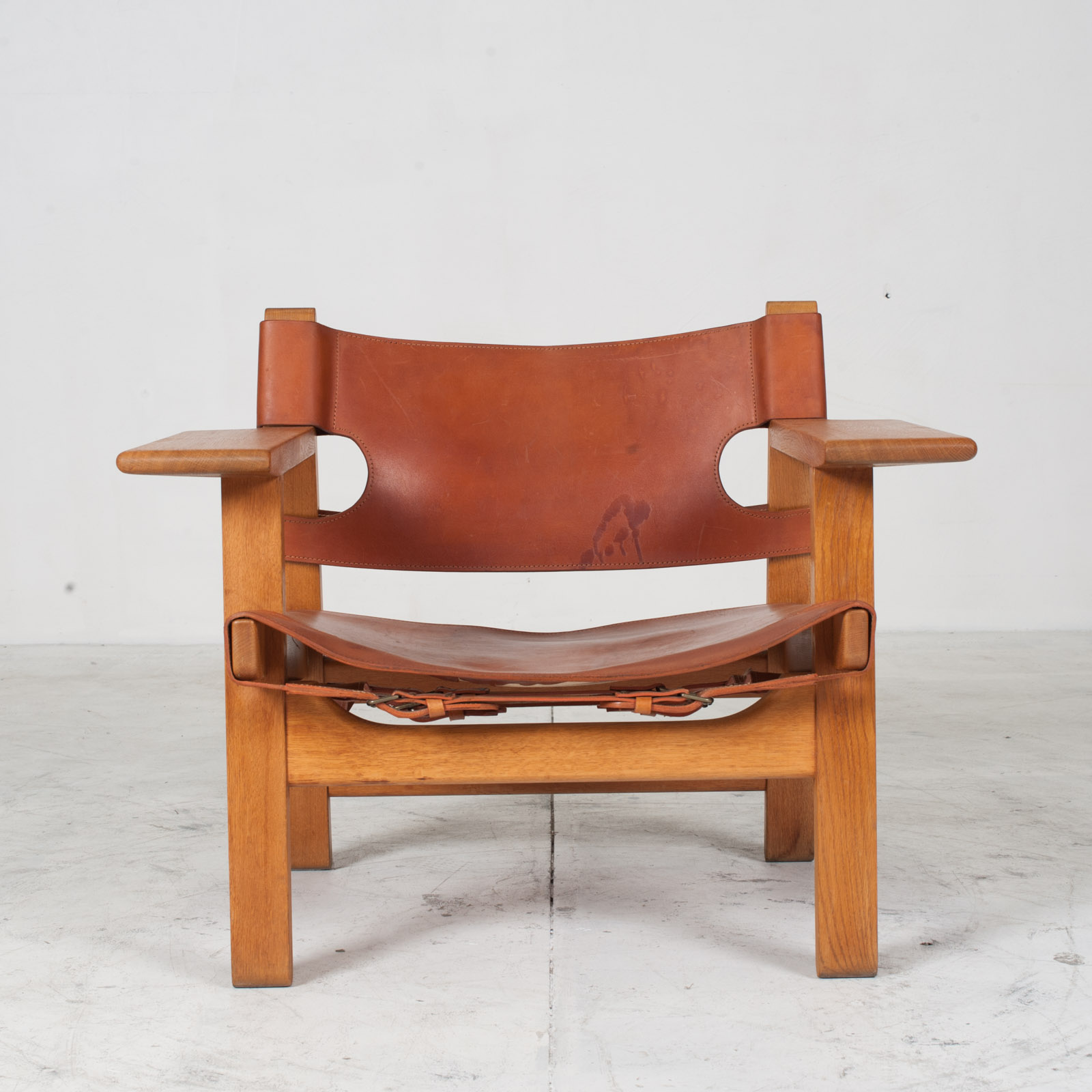 Model 2226 Armchair By Borge Mogensen For Fredericia In Tan Leather 1950s Denmark 001