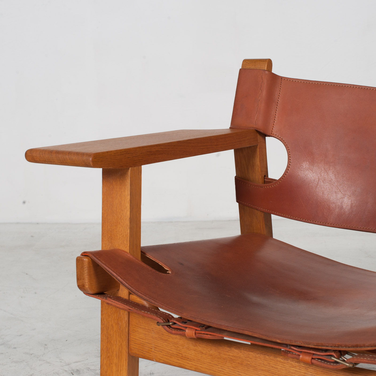 Model 2226 Armchair By Borge Mogensen For Fredericia In Tan Leather 1950s Denmark 05