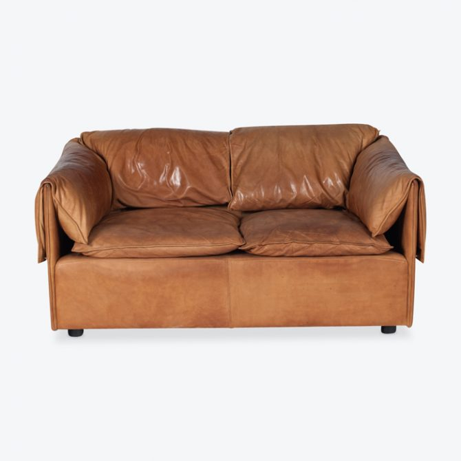 Model Lotus 2 Seat Sofa By Eilerson In Tan Leather 1970 Denmark Thumb.jpg