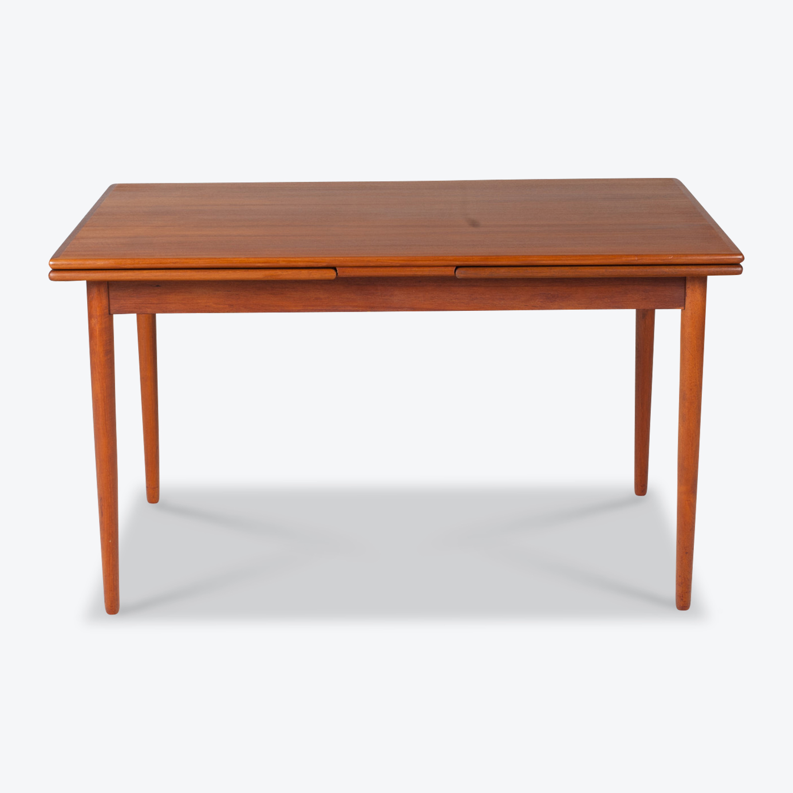 Rectangular Dining Table In Teak With Concealed Extentions 1960s Denmark 01