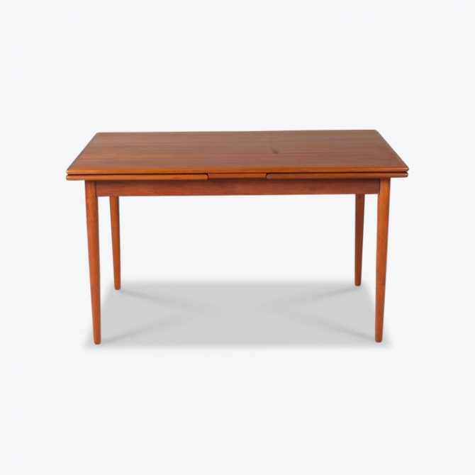 Rectangular Dining Table In Teak With Concealed Extentions 1960s Denmark Thumb 1.jpg