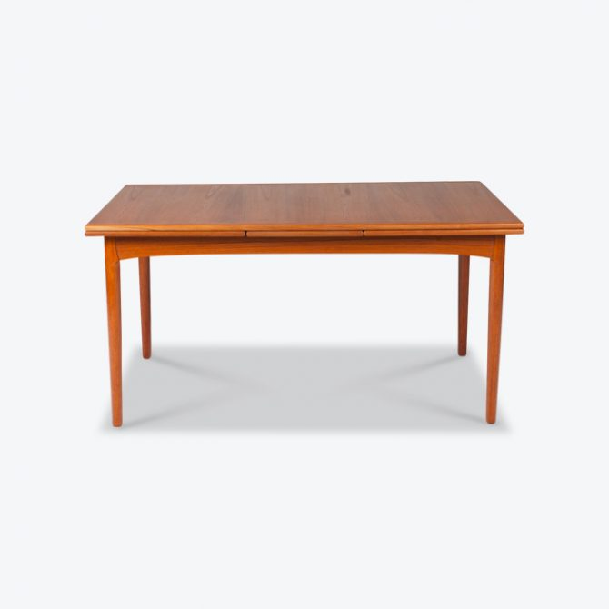 Rectangular Dining Table In Teak With Concealed Extentions 1960s Denmark Thumb 2.jpg