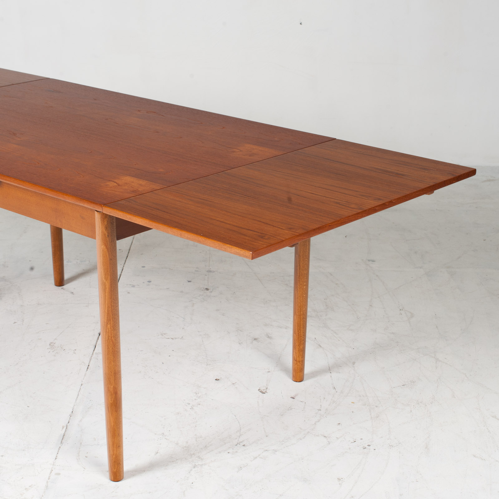 Rectangular Dining Table In Teak With Concealed Extentions 1960s Denmark10