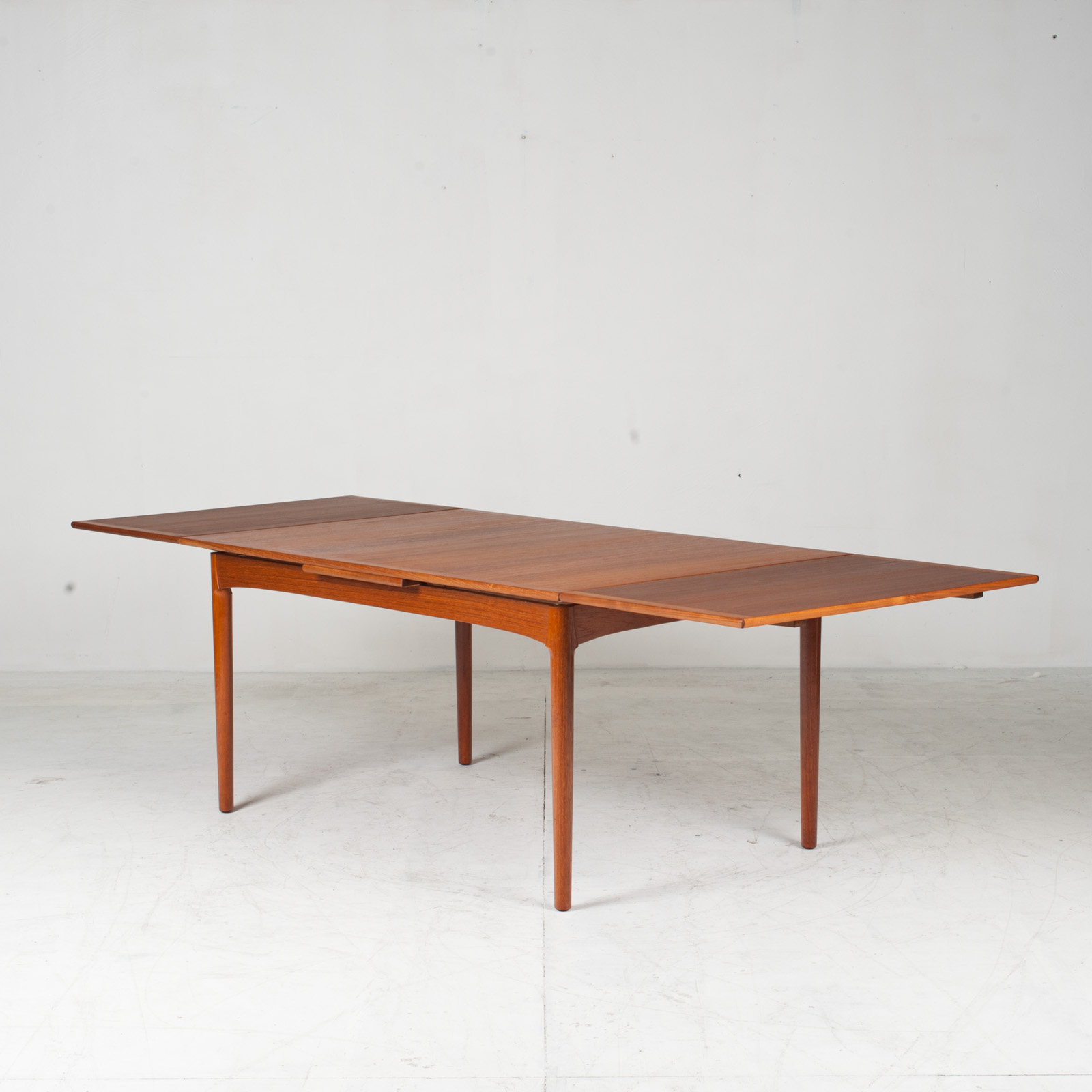 Rectangular Dining Table In Teak With Concealed Extentions 1960s Denmark11
