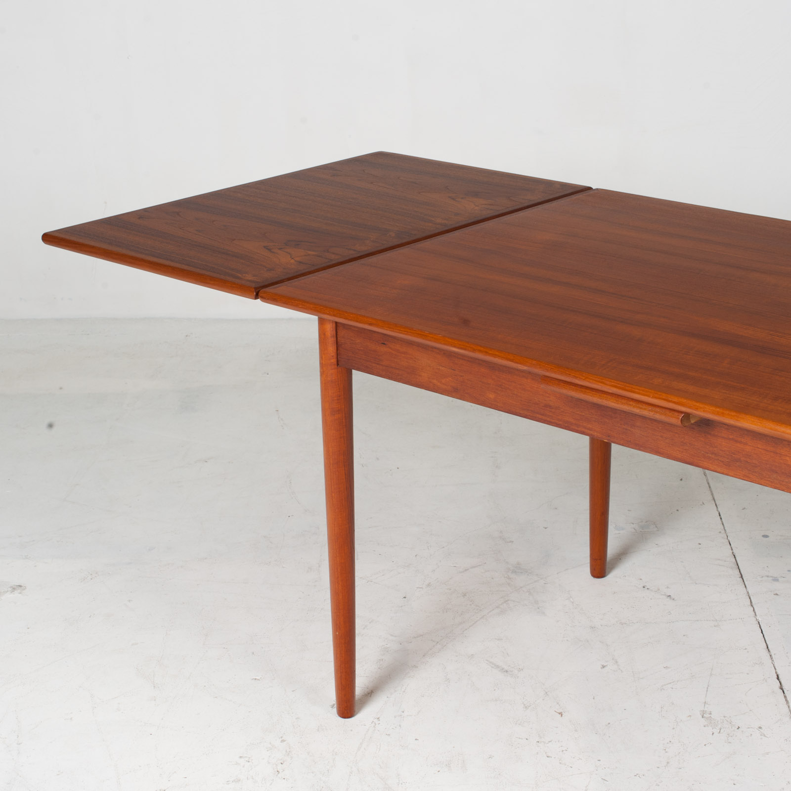 Rectangular Dining Table In Teak With Concealed Extentions 1960s Denmark12