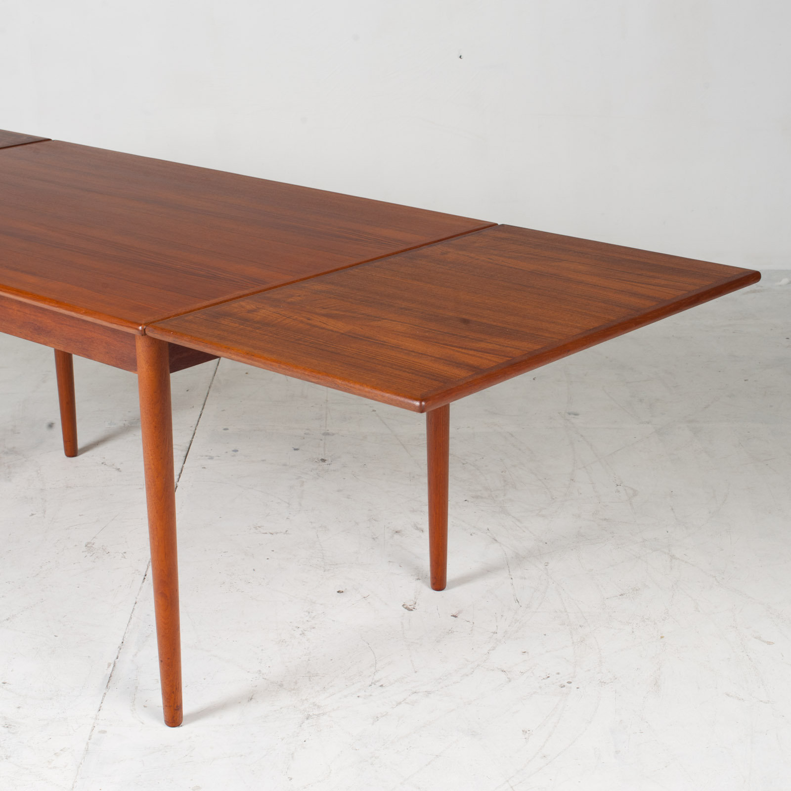 Rectangular Dining Table In Teak With Concealed Extentions 1960s Denmark13