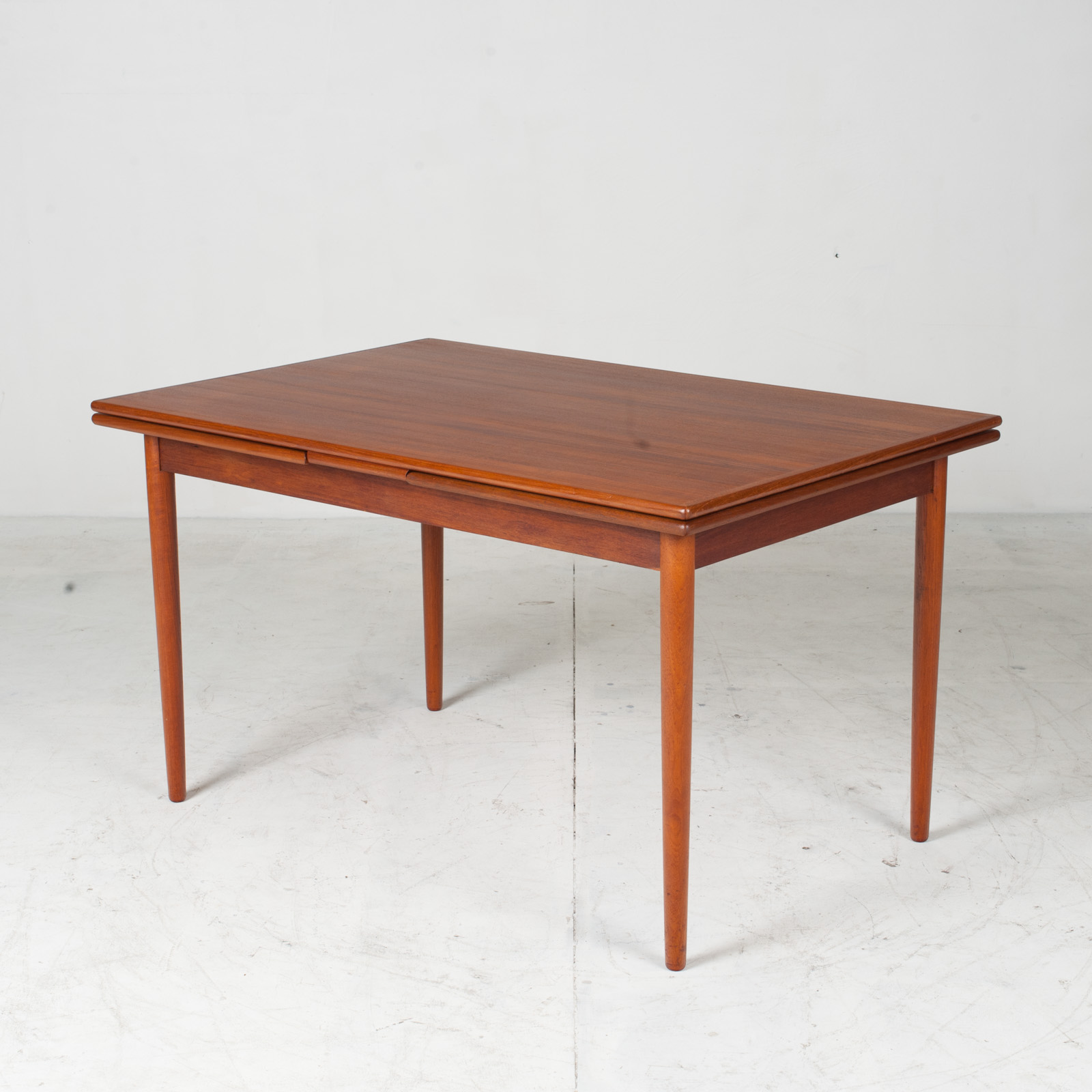 Rectangular Dining Table In Teak With Concealed Extentions 1960s Denmark2