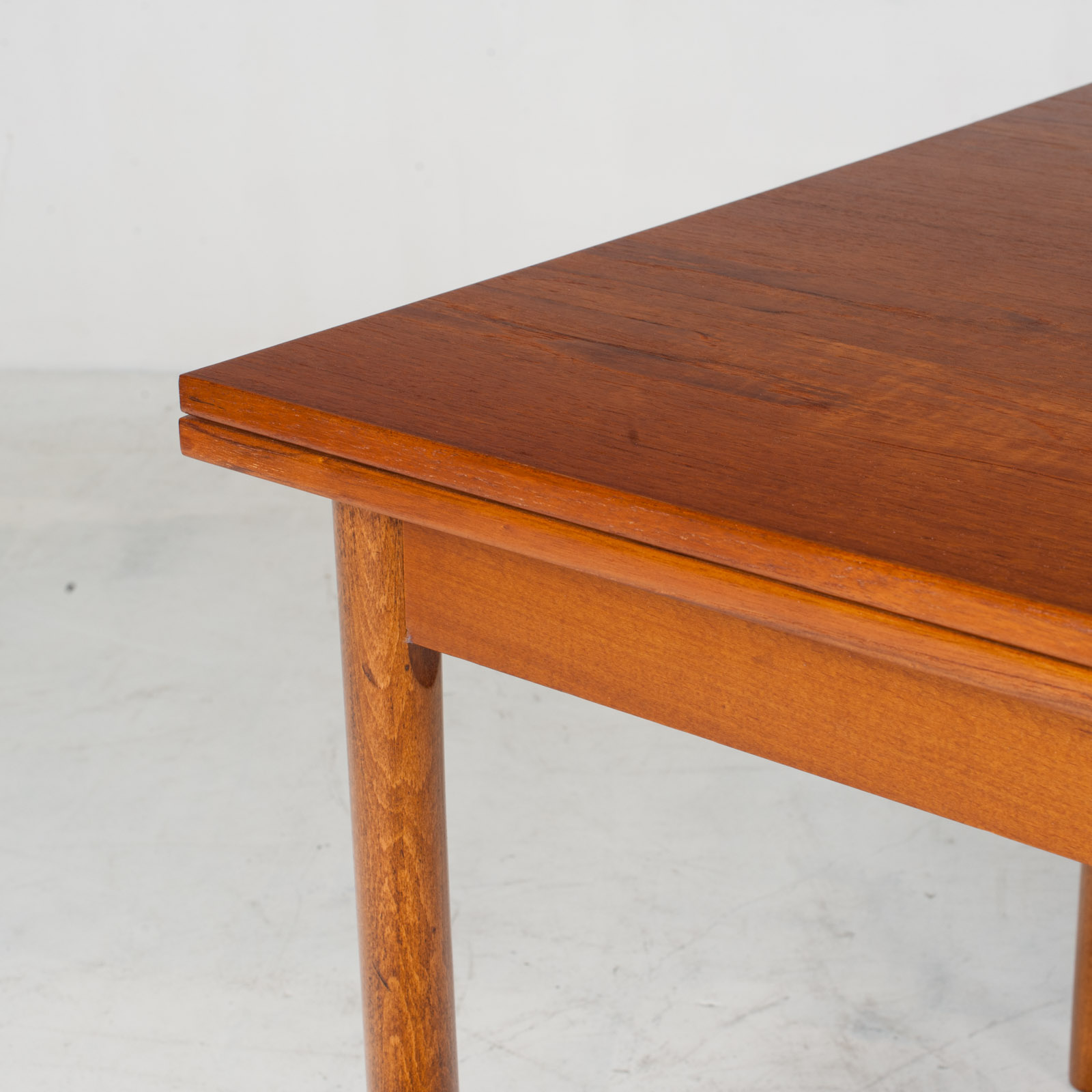 Rectangular Dining Table In Teak With Concealed Extentions 1960s Denmark3