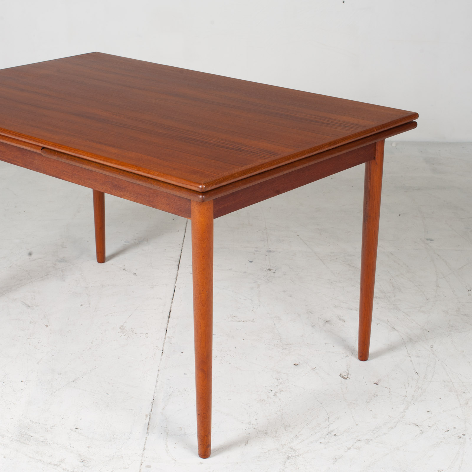 Rectangular Dining Table In Teak With Concealed Extentions 1960s Denmark4