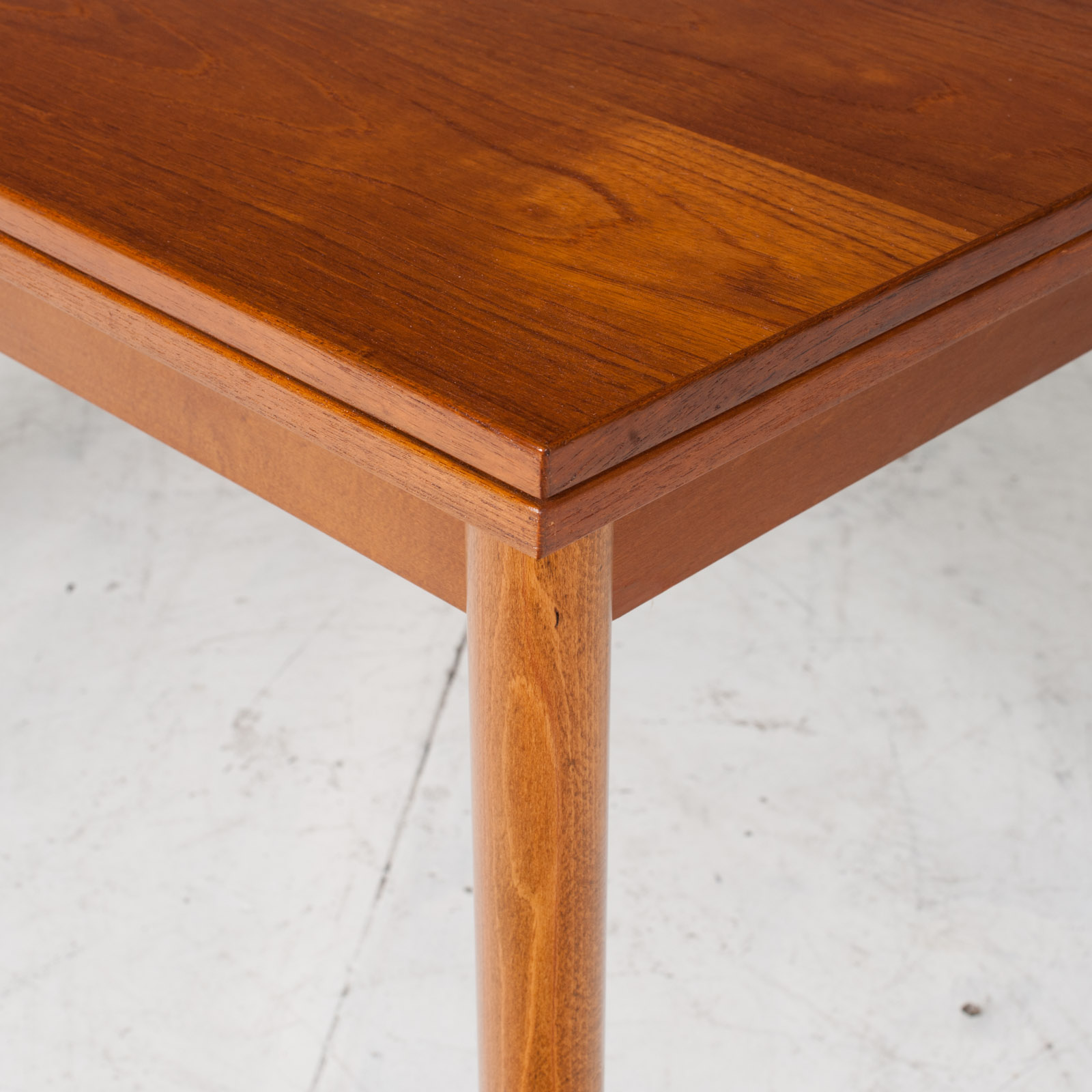 Rectangular Dining Table In Teak With Concealed Extentions 1960s Denmark5