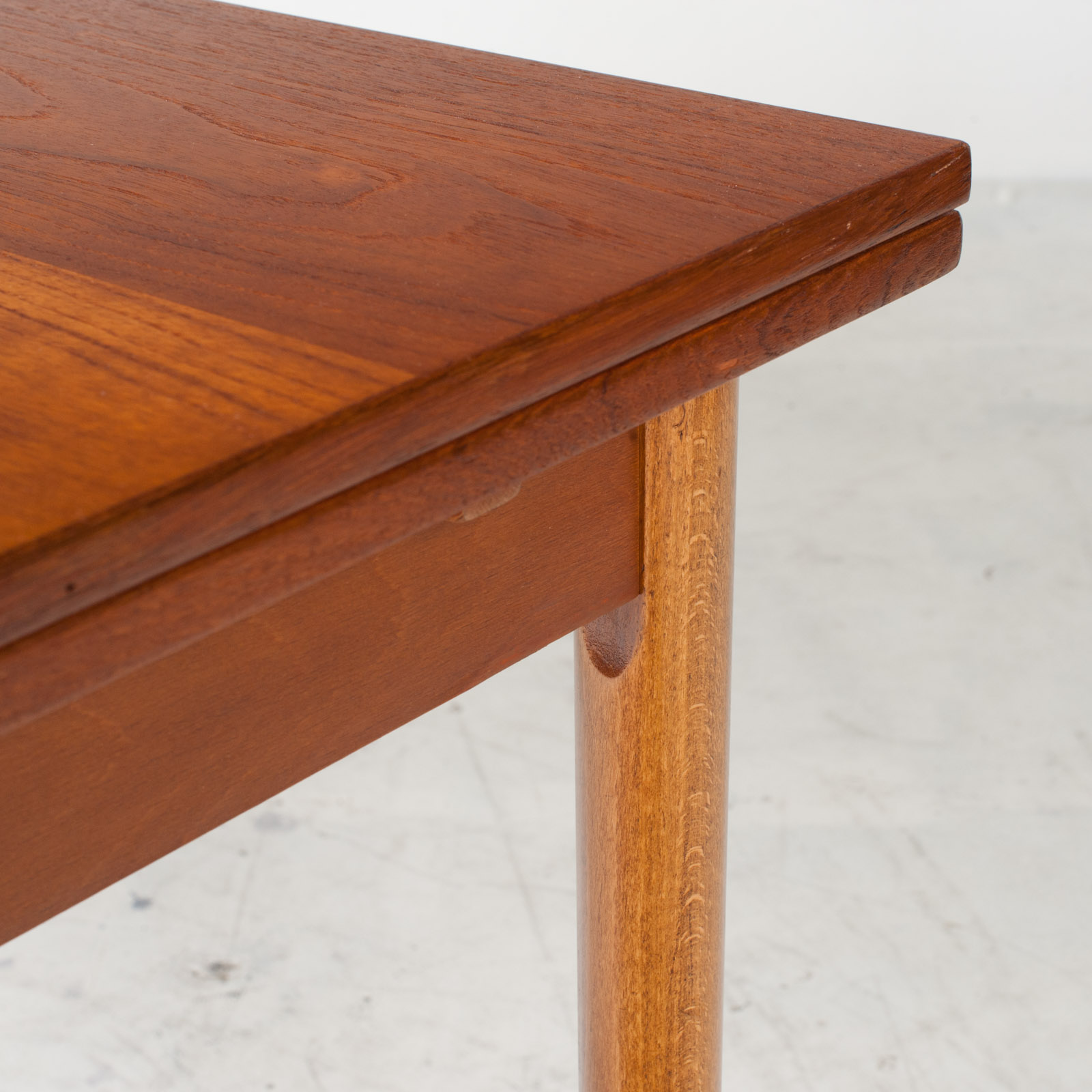 Rectangular Dining Table In Teak With Concealed Extentions 1960s Denmark6