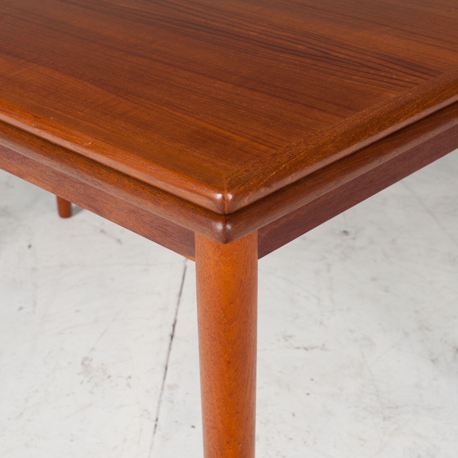 Rectangular Dining Table In Teak With Concealed Extentions 1960s Denmark7